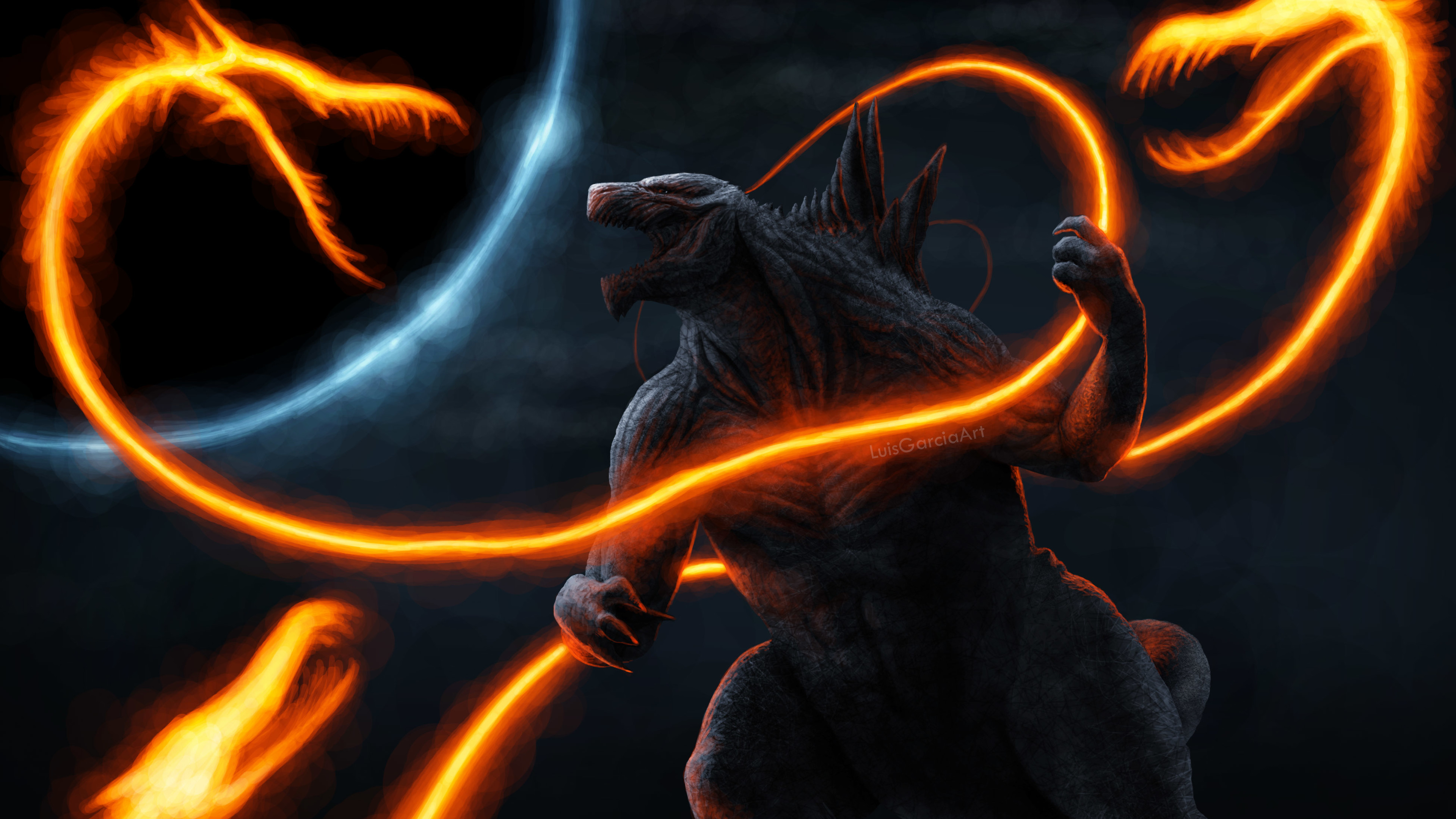Ghidorah Noodles Vs Anime Godzilla 4k hd-wallpapers ...