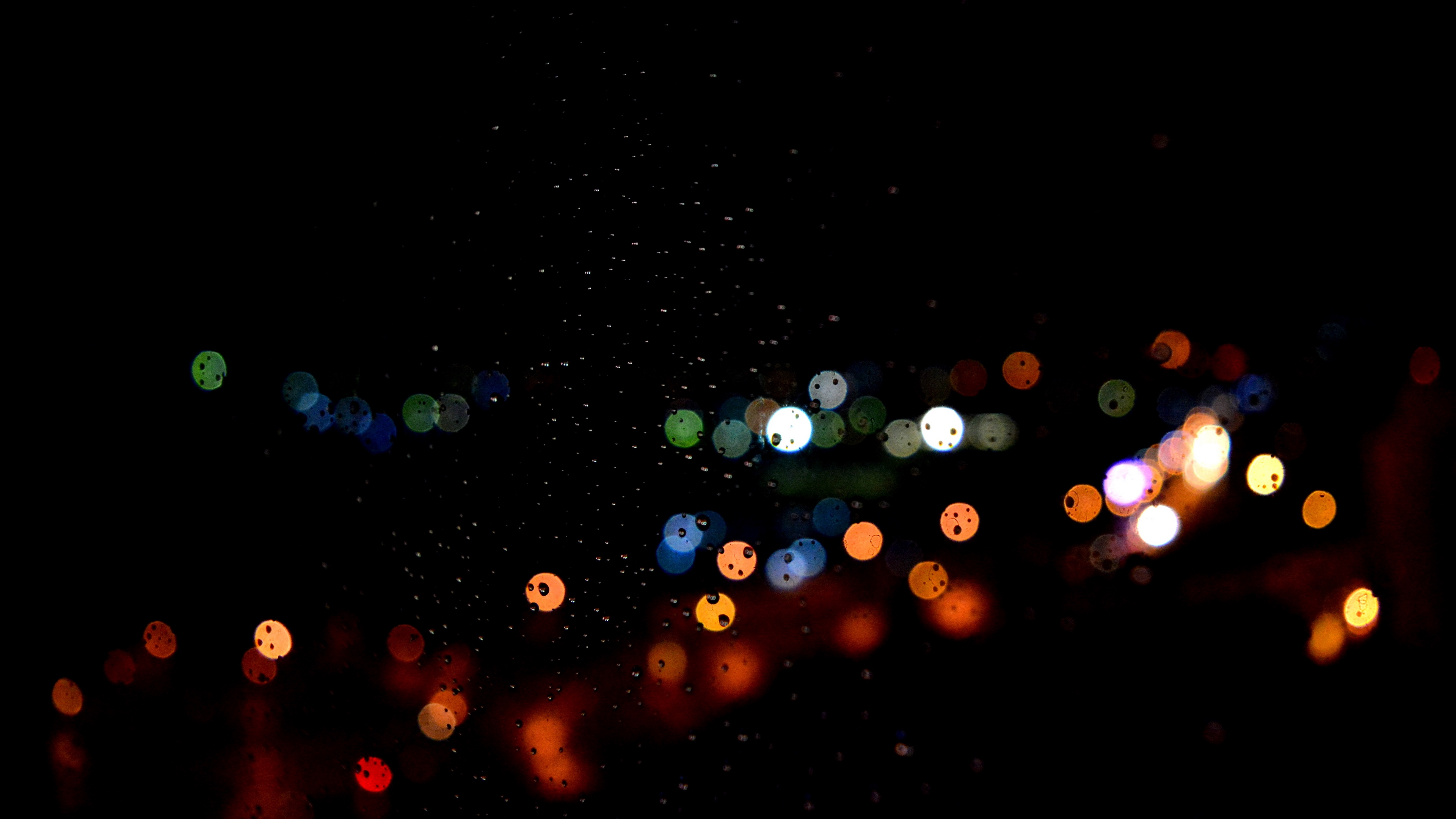 glare dark background drops circles 4k 1539369392 - glare, dark background, drops, circles 4k - glare, Drops, dark background