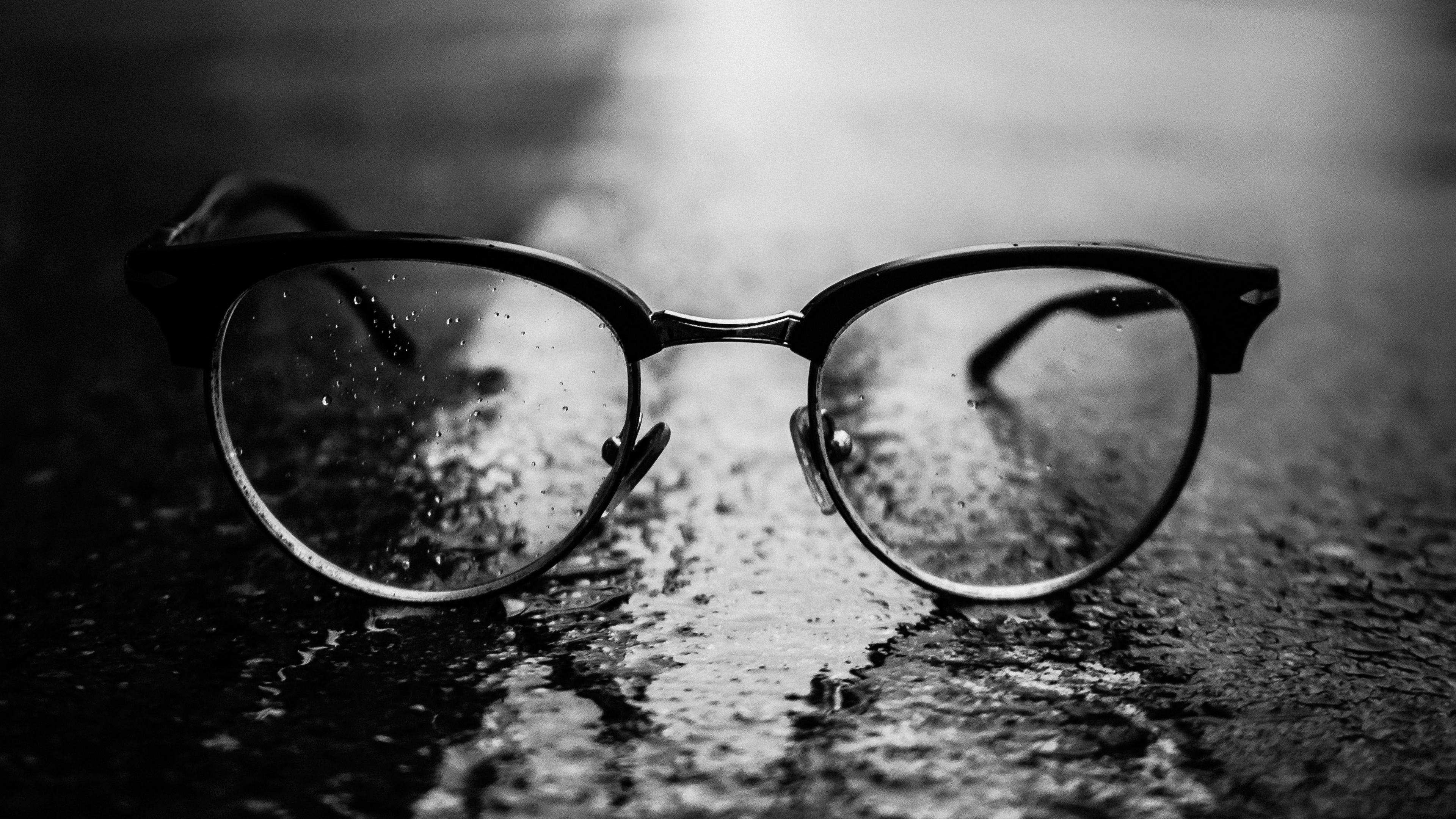 glasses black close up dark 4k 1540575157 - glasses, black, close-up, dark 4k - glasses, close-up, Black