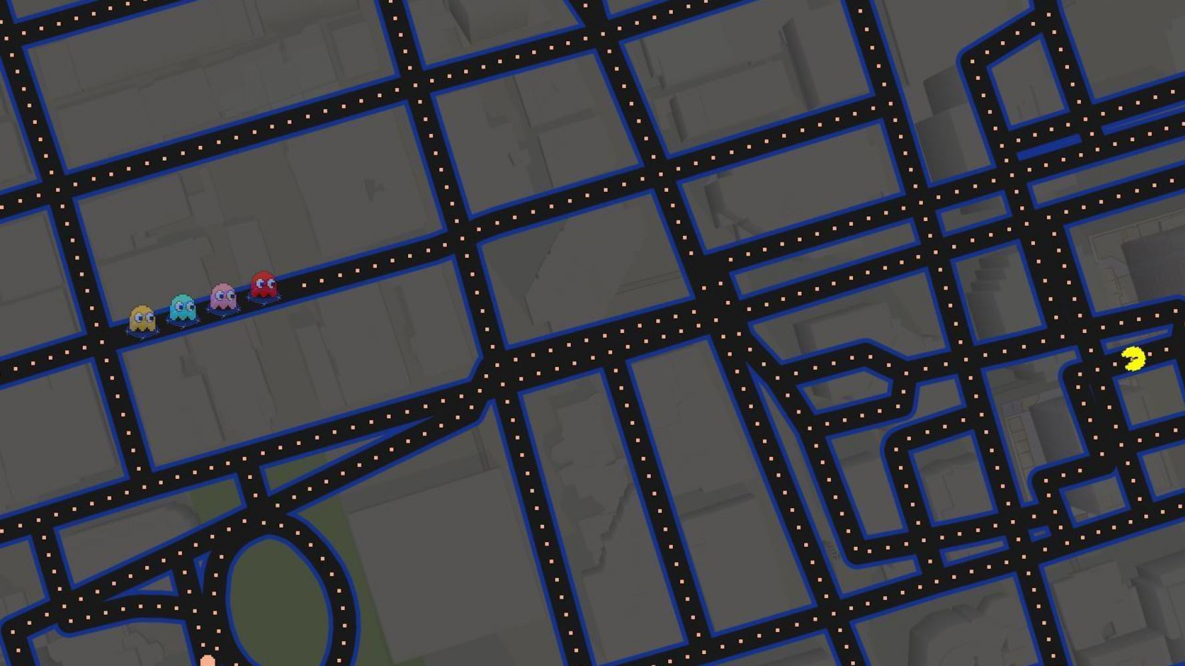 google maps pacman art 4k 1540748311 - Google Maps Pacman Art 4k - pacman wallpapers, google maps wallpapers, digital art wallpapers, art wallpapers