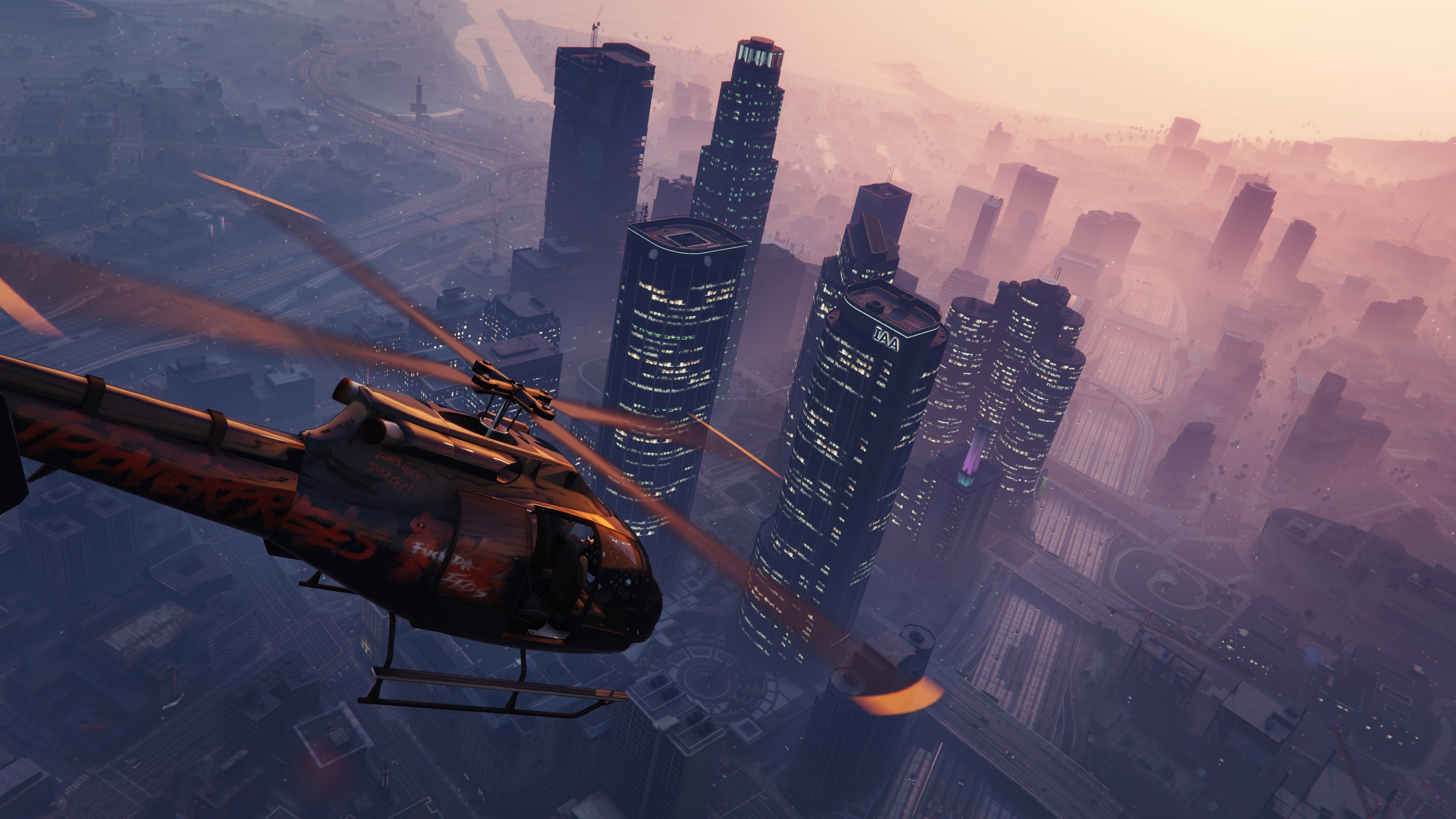 Wallpaper 4k Grand Theft Auto V Gta 5 Helicopter Sky