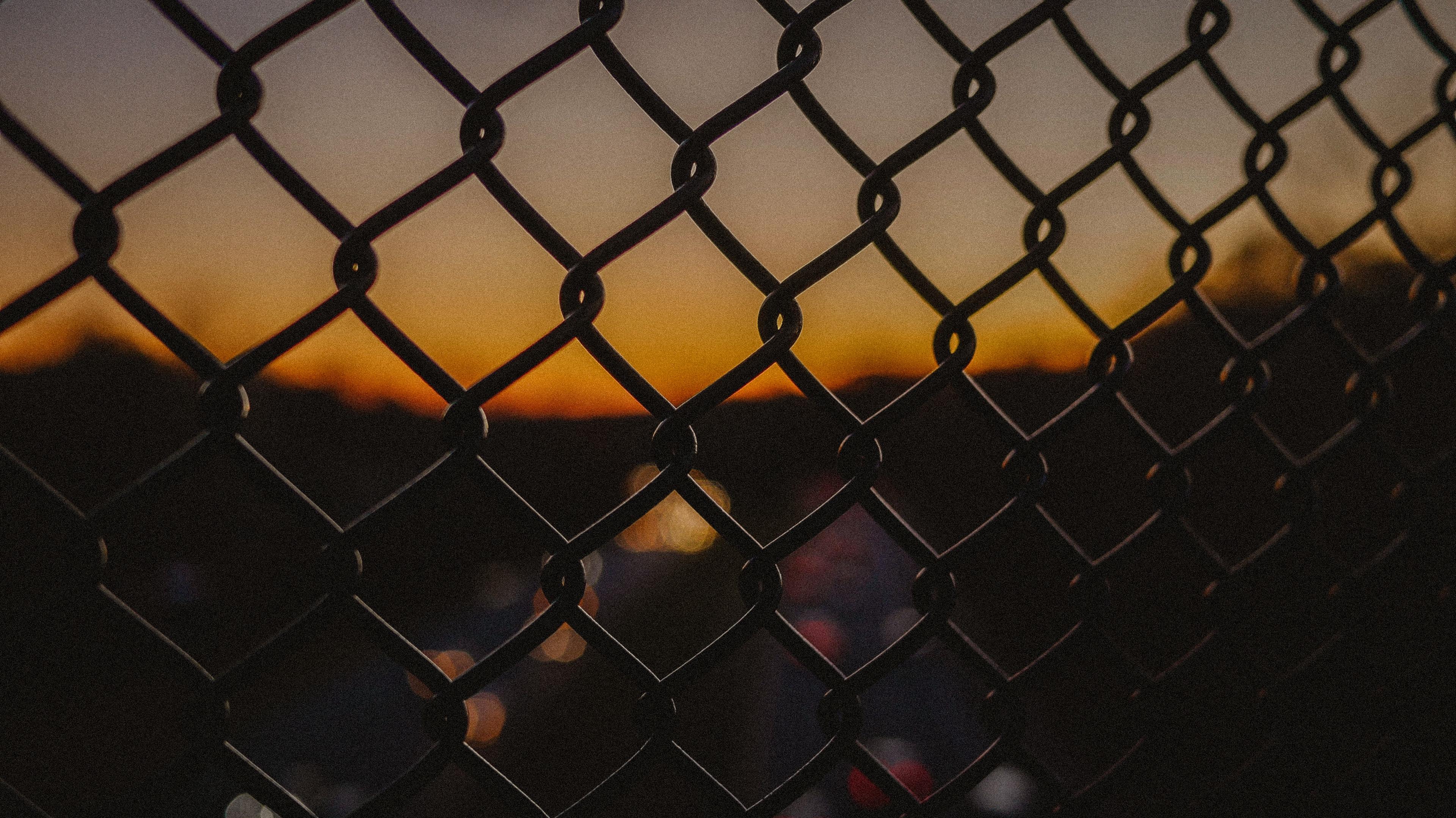 grid fence night dark 4k 1540574925 - grid, fence, night, dark 4k - Night, Grid, fence
