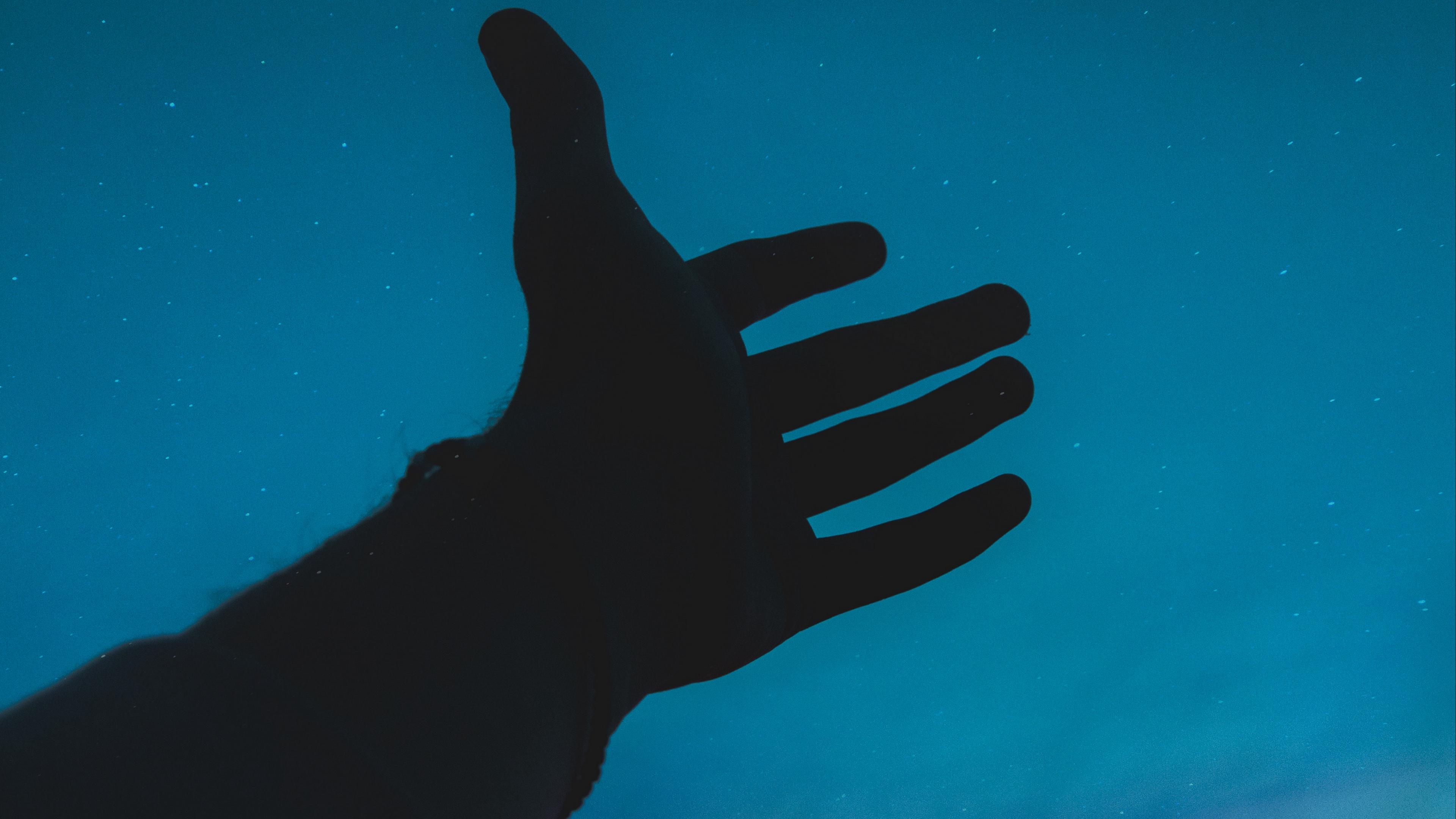 hand sky silhouette 4k 1540574910 - hand, sky, silhouette 4k - Sky, Silhouette, hand