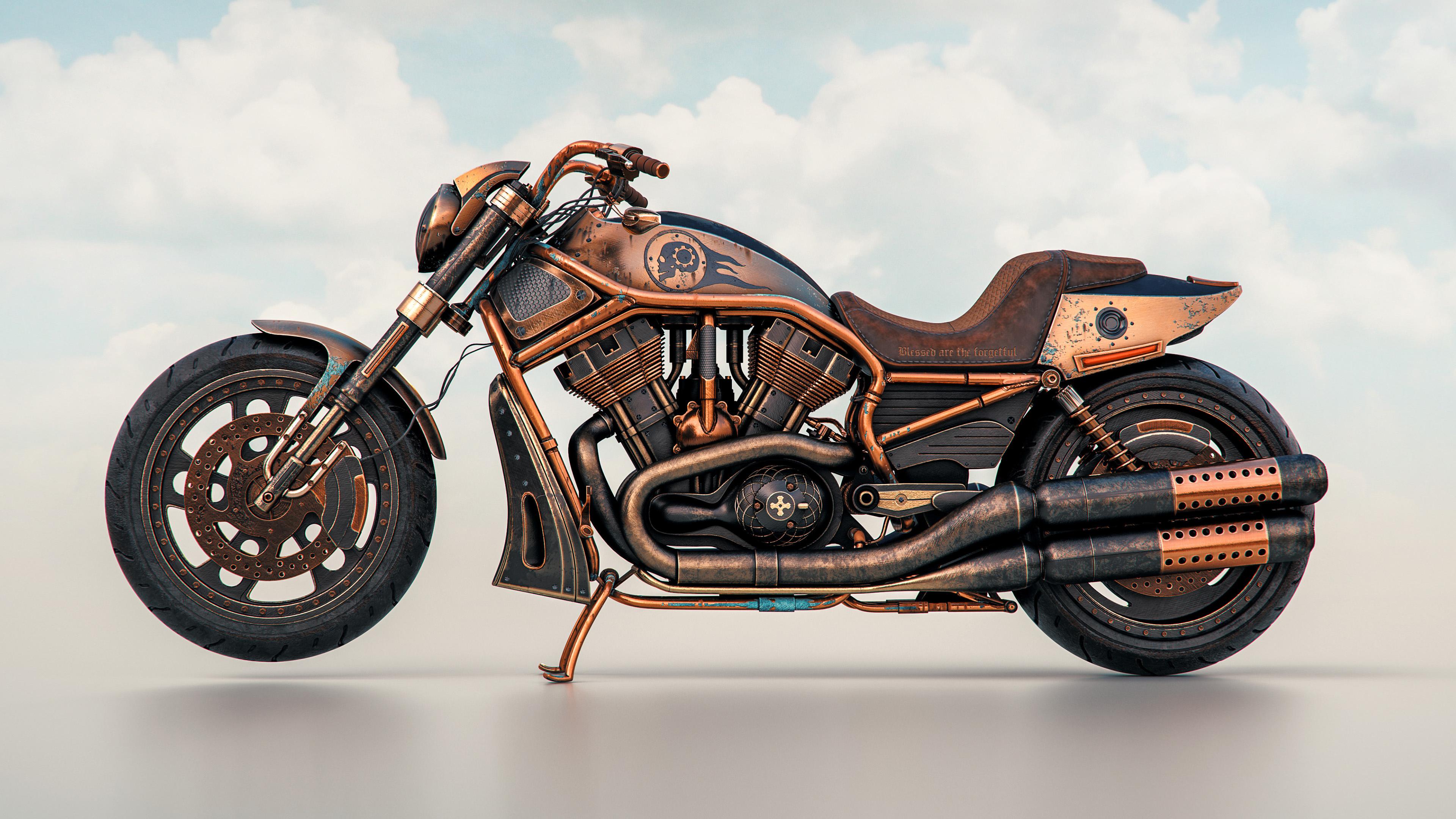 harley davidson night rider steampunk 4k 1540747034 - Harley Davidson Night Rider Steampunk 4k - modified wallpapers, hd-wallpapers, harley davidson wallpapers, bikes wallpapers, behance wallpapers, 4k-wallpapers