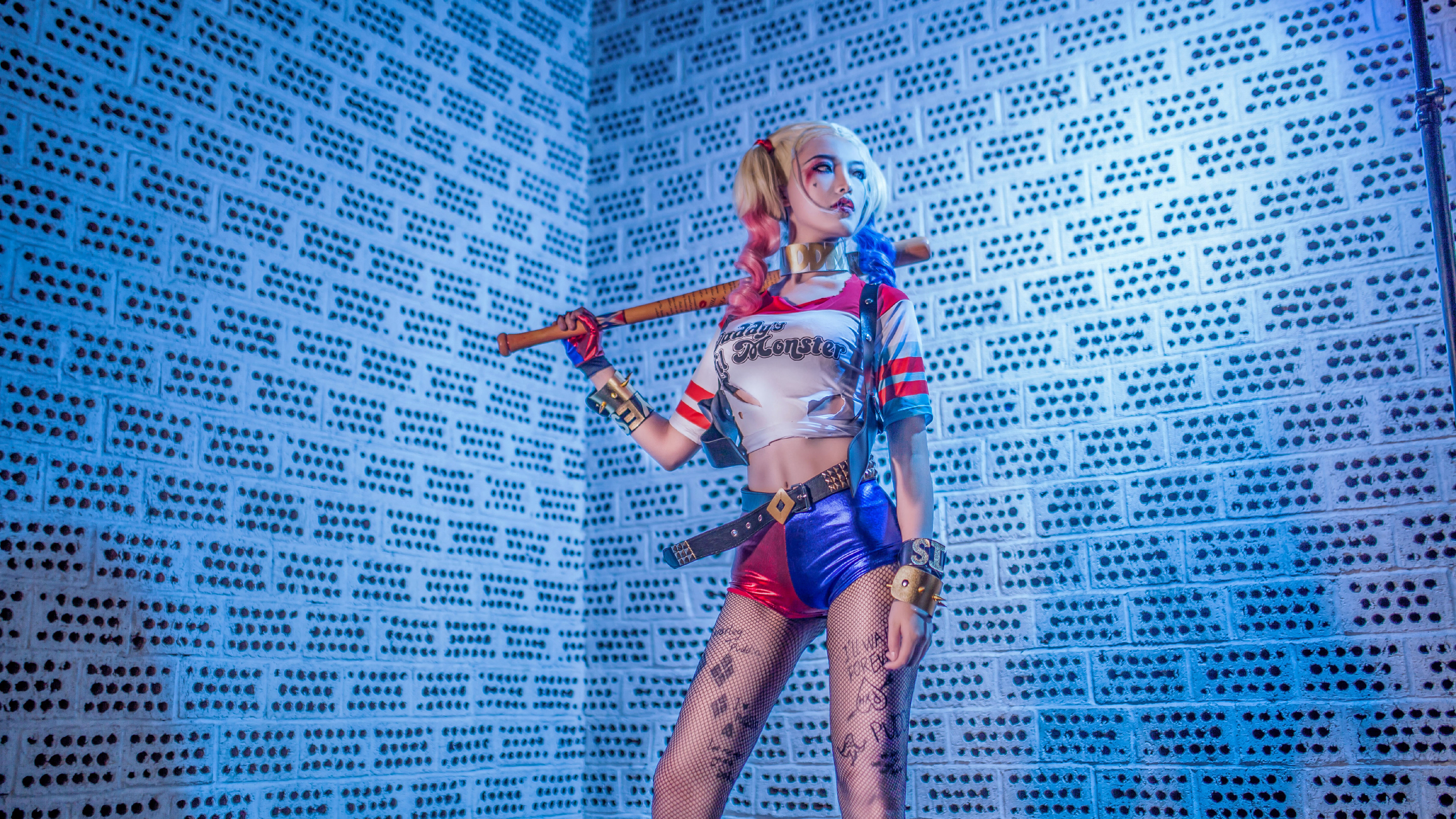 harley quinn cosplay 5k 2018 1539452796 - Harley Quinn Cosplay 5k 2018 - suicide squad wallpapers, hd-wallpapers, harley quinn wallpapers, cosplay wallpapers, 5k wallpapers, 4k-wallpapers