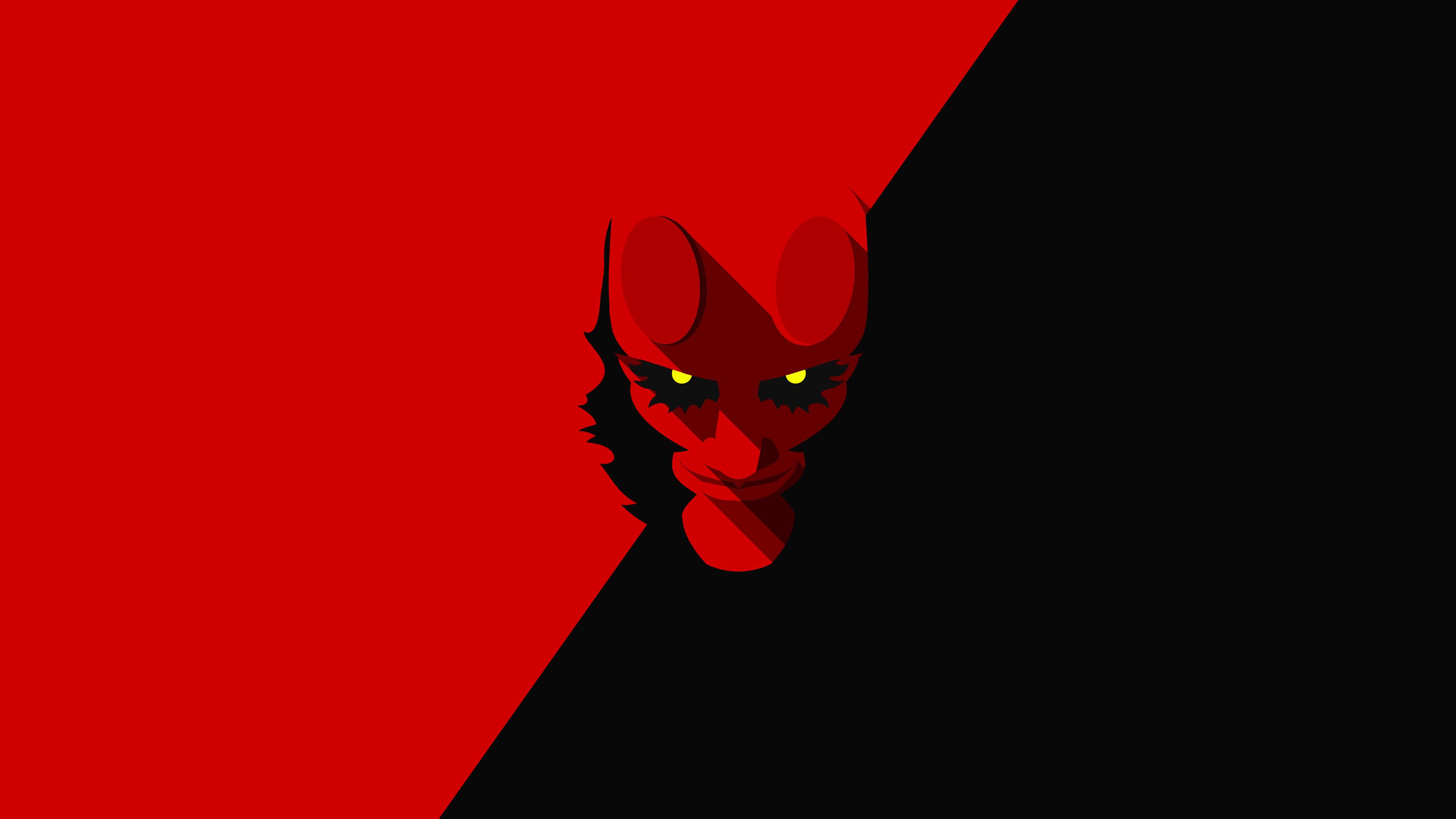 hellboy minimalism 4k 1539452814 - Hellboy Minimalism 4k - superheroes wallpapers, minimalism wallpapers, hellboy wallpapers, hd-wallpapers, digital art wallpapers, behance wallpapers, artwork wallpapers, 4k-wallpapers