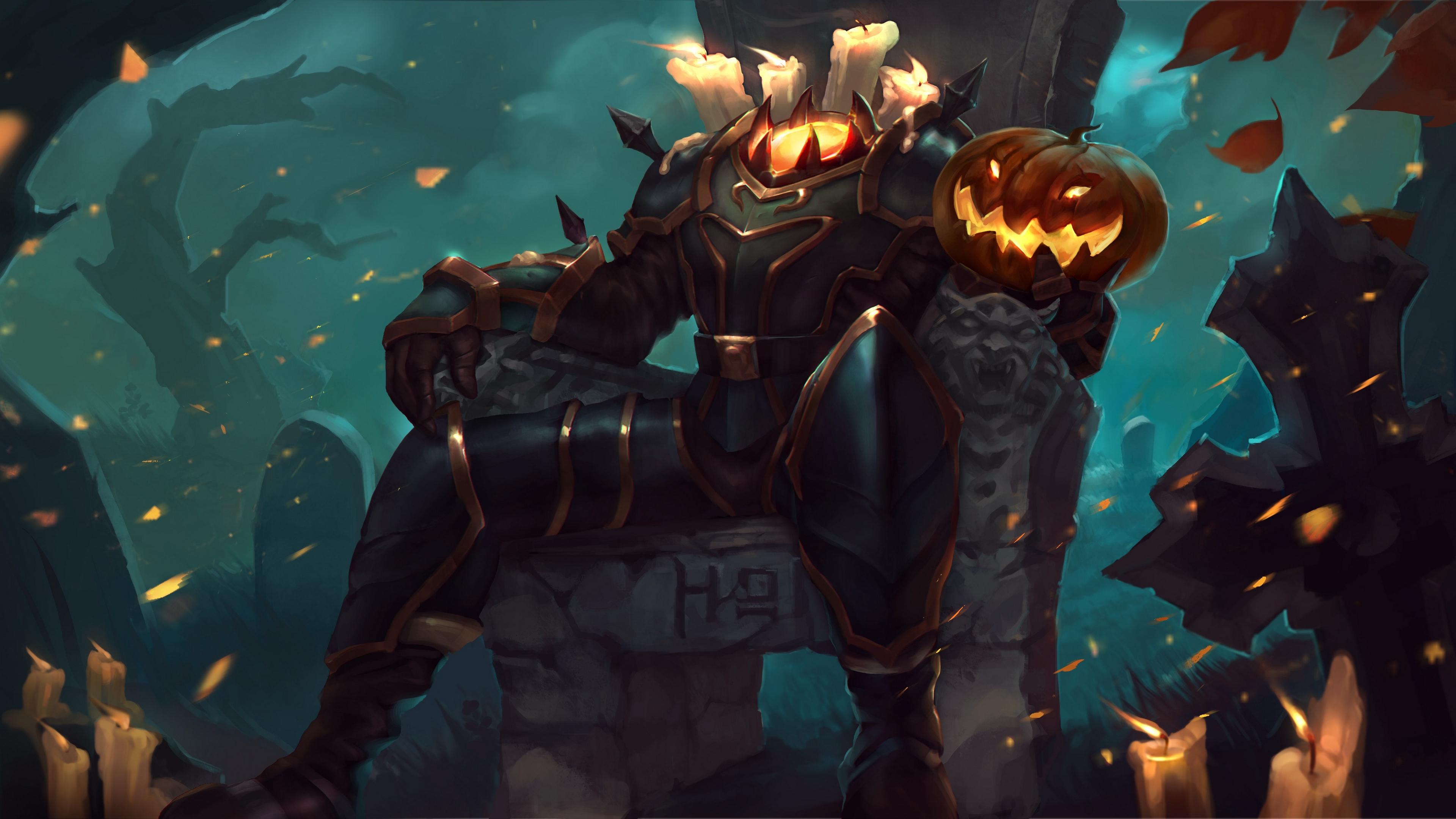 Wallpaper 4k Heroes Of Newerth Transmutenstein Hon Halloween 4k