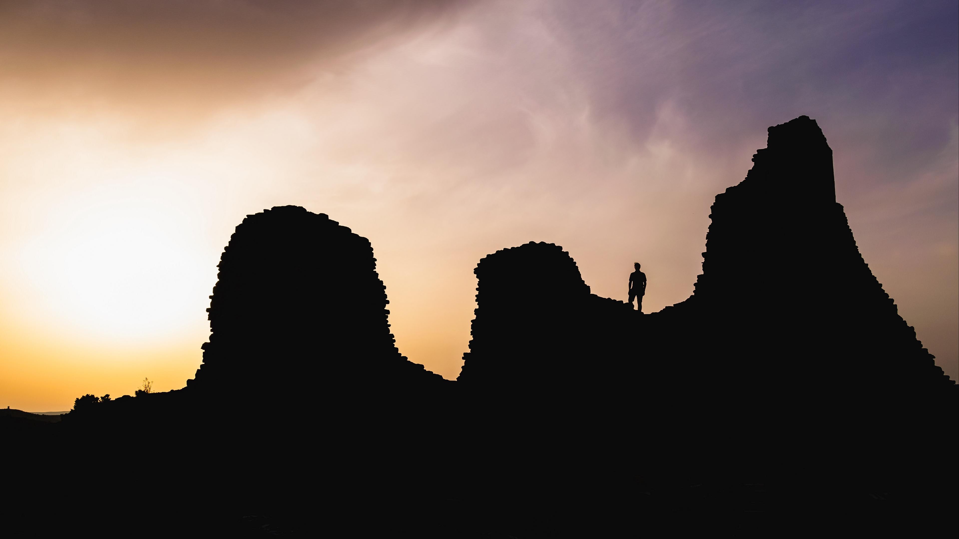 hills silhouette solitude sunset sardinia italy 4k 1540574875 - hills, silhouette, solitude, sunset, sardinia, italy 4k - solitude, Silhouette, Hills