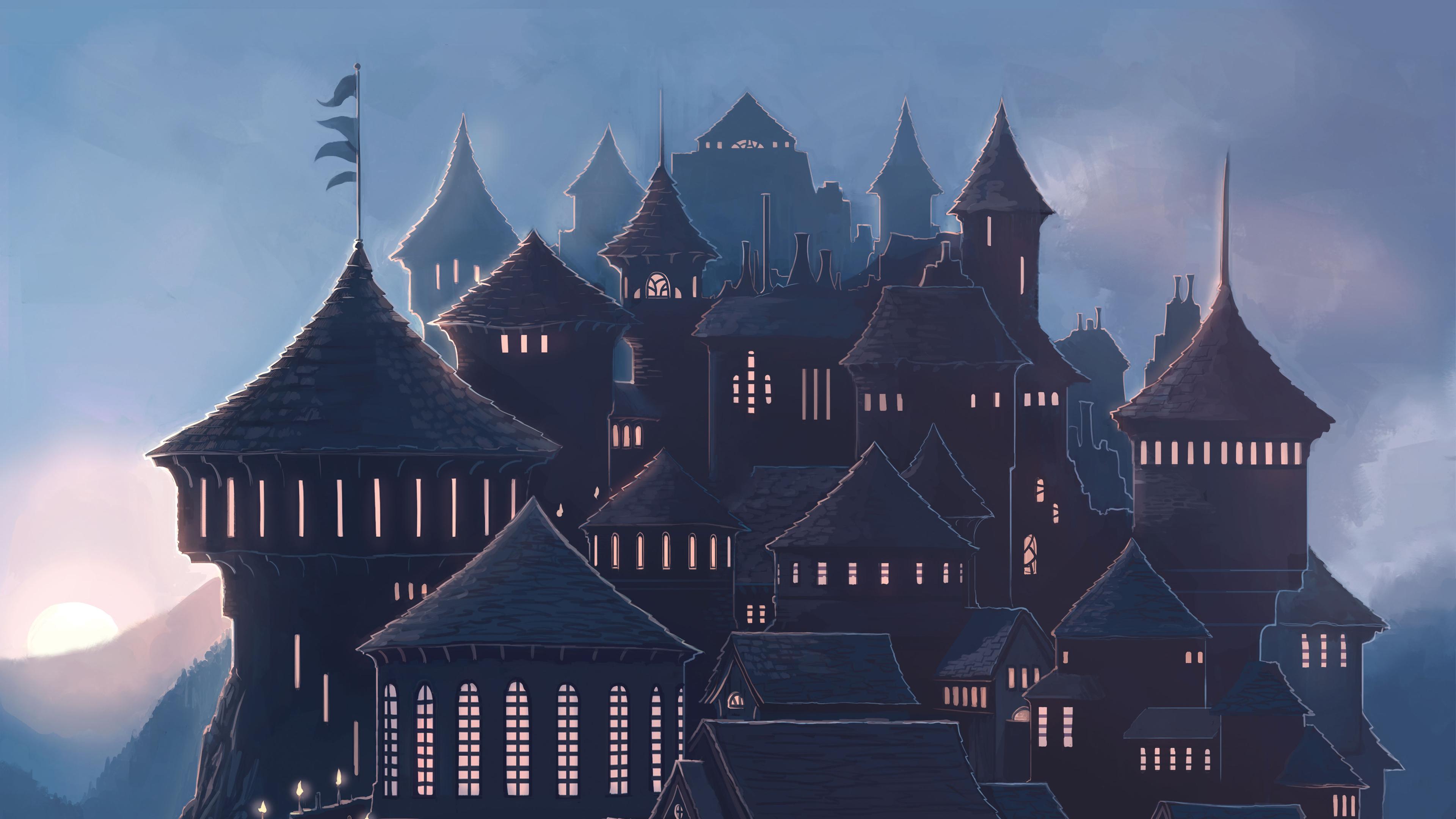 hogwarts harry potter school 4k 1540751299 - Hogwarts Harry Potter School 4k - hd-wallpapers, harry potter wallpapers, digital art wallpapers, artist wallpapers, 4k-wallpapers