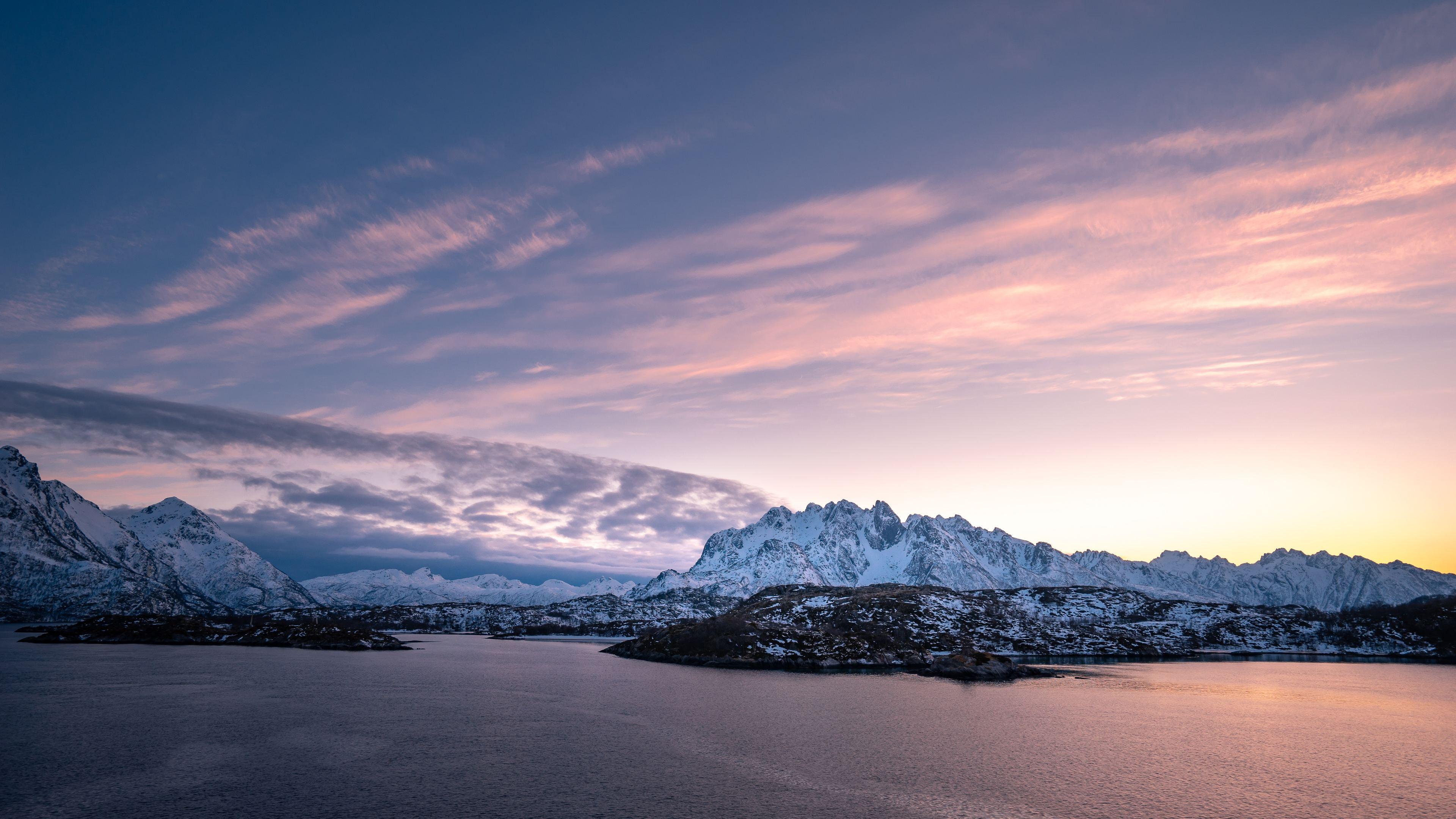 Wallpaper 4k Ice Mountain Sea Clouds Arctic Polar 4k 4k