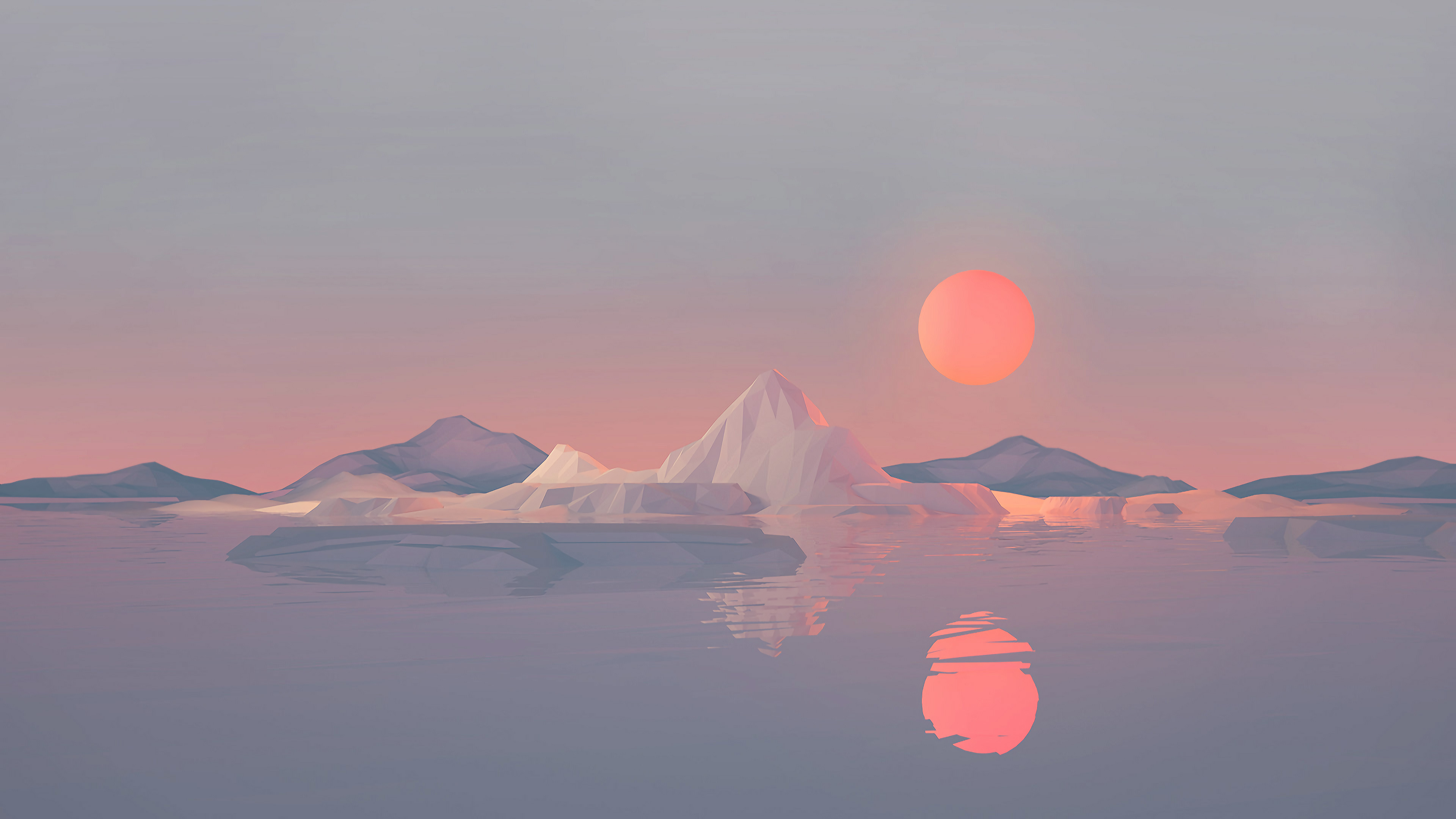 iceberg minimalist 4k 1540752916 - Iceberg Minimalist 4k - minimalist wallpapers, minimalism wallpapers, low poly wallpapers, iceberg wallpapers, hd-wallpapers, digital art wallpapers, artwork wallpapers, artist wallpapers, 4k-wallpapers