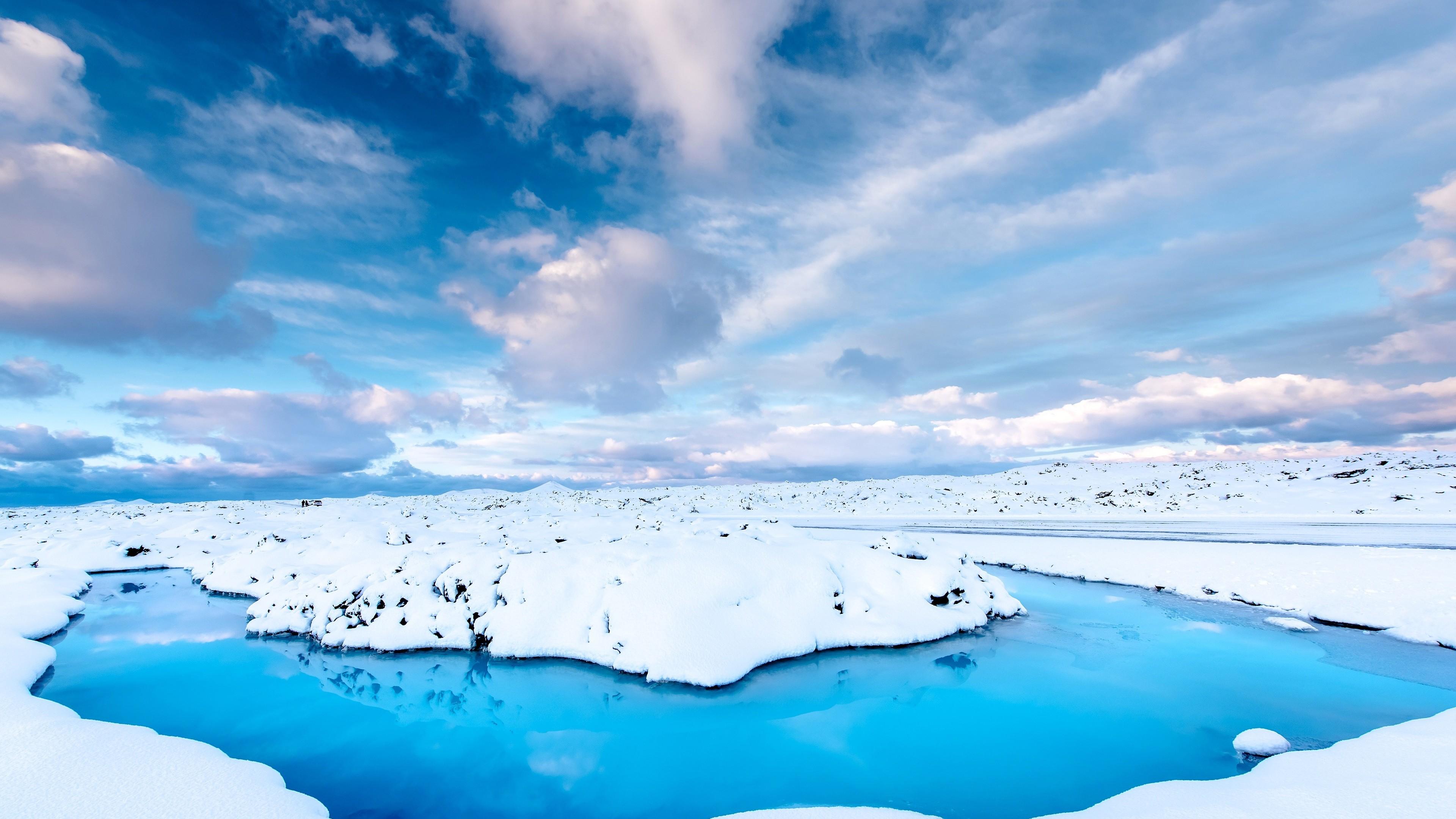 iceland snow water 4k 1540132903 - Iceland Snow Water 4k - water wallpapers, snow wallpapers, nature wallpapers, iceland wallpapers, hd-wallpapers, 5k wallpapers, 4k-wallpapers