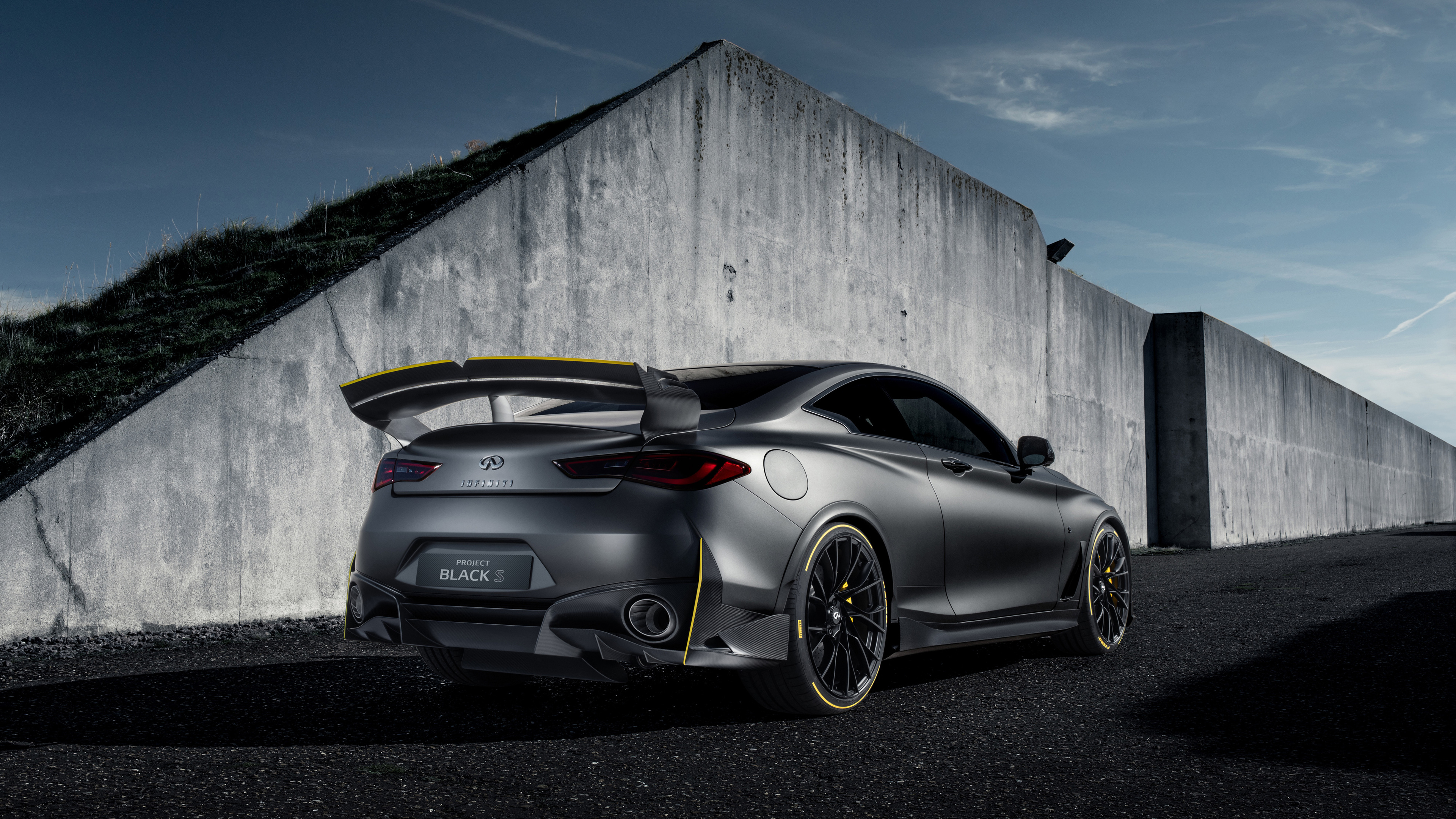 infiniti project black s prototype 2018 rear 1539792842 - Infiniti Project Black S Prototype 2018 Rear - infiniti wallpapers, hd-wallpapers, cars wallpapers, 4k-wallpapers, 2018 cars wallpapers