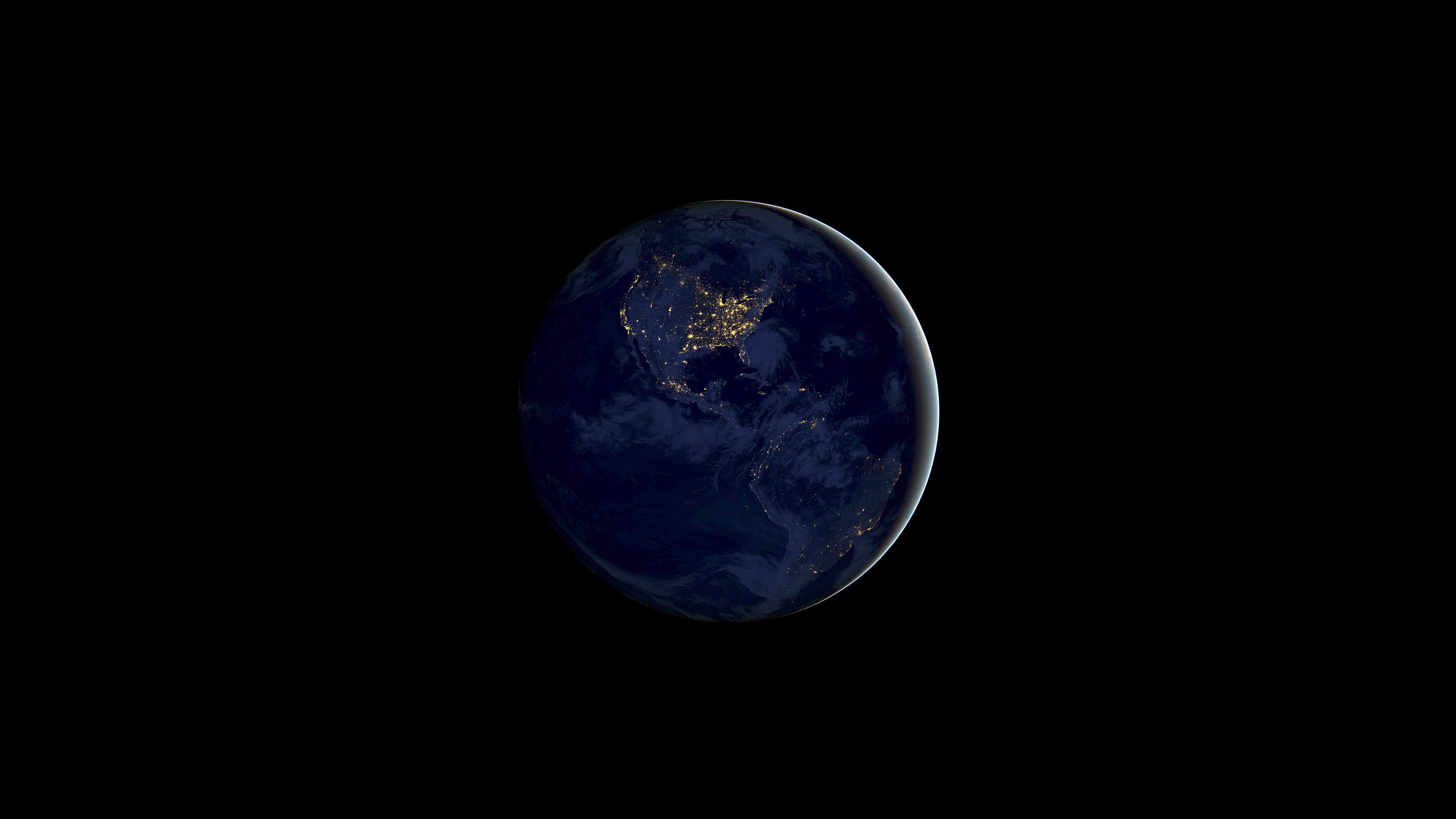 Wallpaper 4k Ios 11 Earth Night 4k 4k Wallpapers Apple