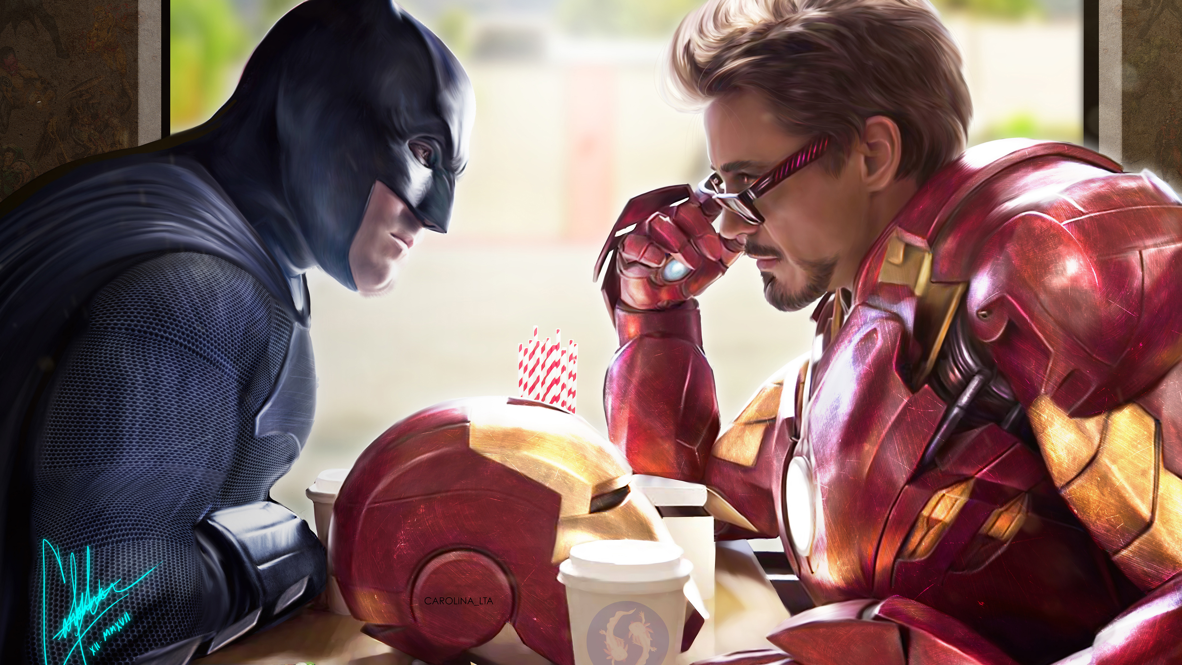 iron man and batman 1538786548 - Iron Man And Batman - superheroes wallpapers, iron man wallpapers, hd-wallpapers, behance wallpapers, batman wallpapers, artwork wallpapers, artist wallpapers, 4k-wallpapers