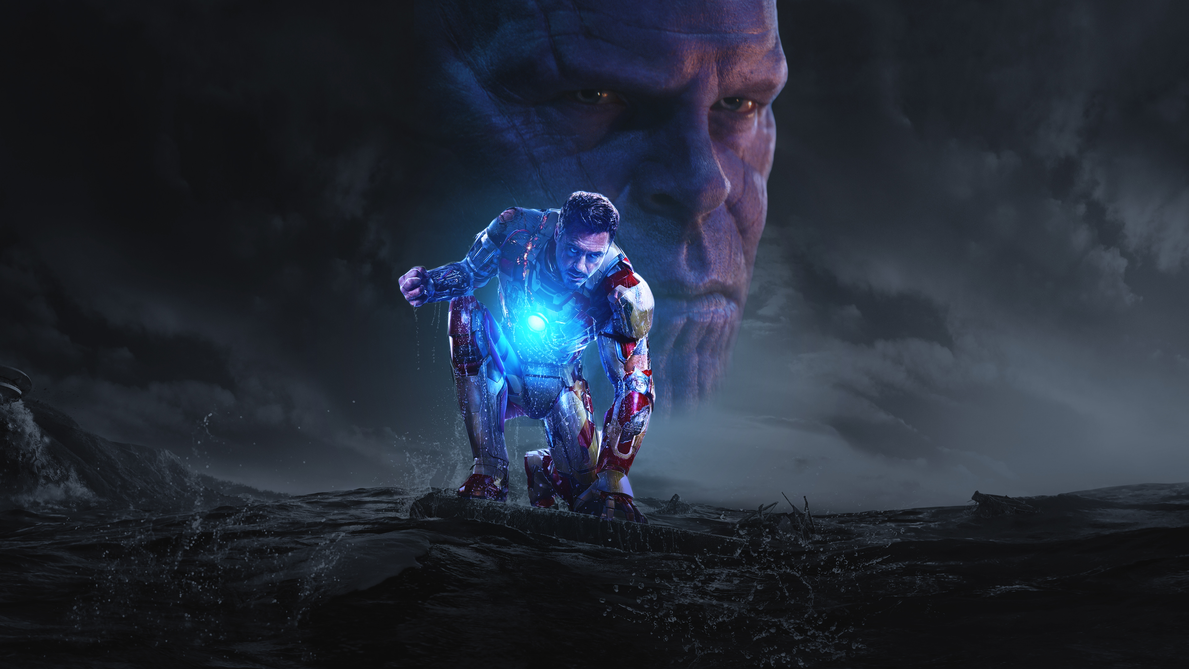 Wallpaper 4k Iron Man And Thanos In Avengers Infinity War 2018