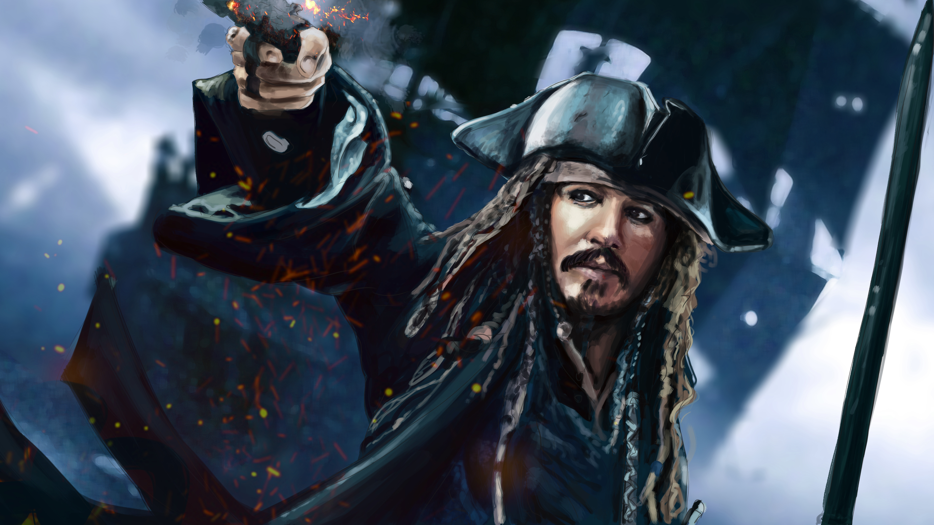Jack Sparrow 4k Artwork 4k-wallpapers