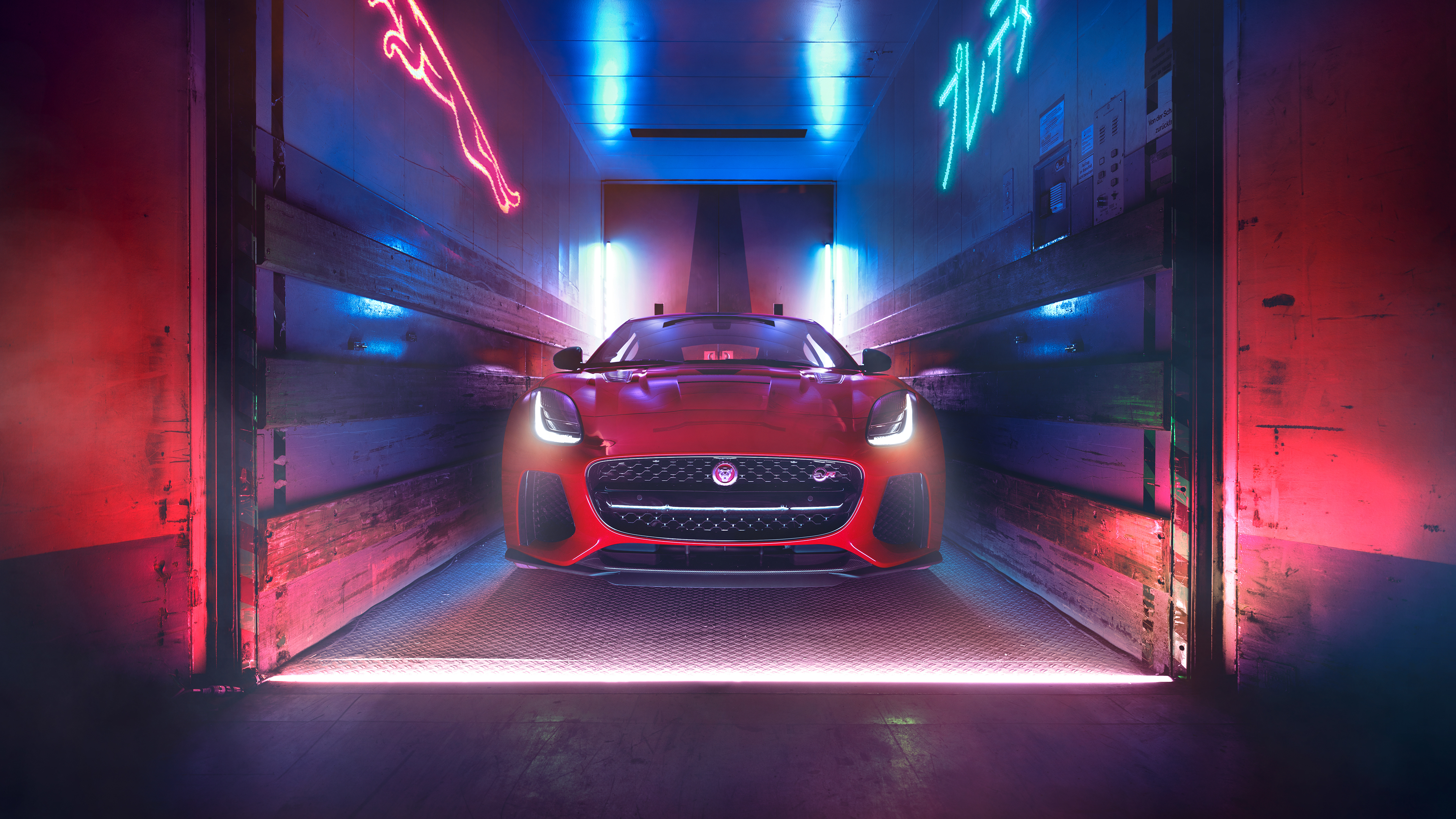jaguar f type 2018 front view 4k 1539112069 - Jaguar F Type 2018 Front View 4k - jaguar wallpapers, jaguar f type wallpapers, hd-wallpapers, cars wallpapers, 4k-wallpapers, 2018 cars wallpapers