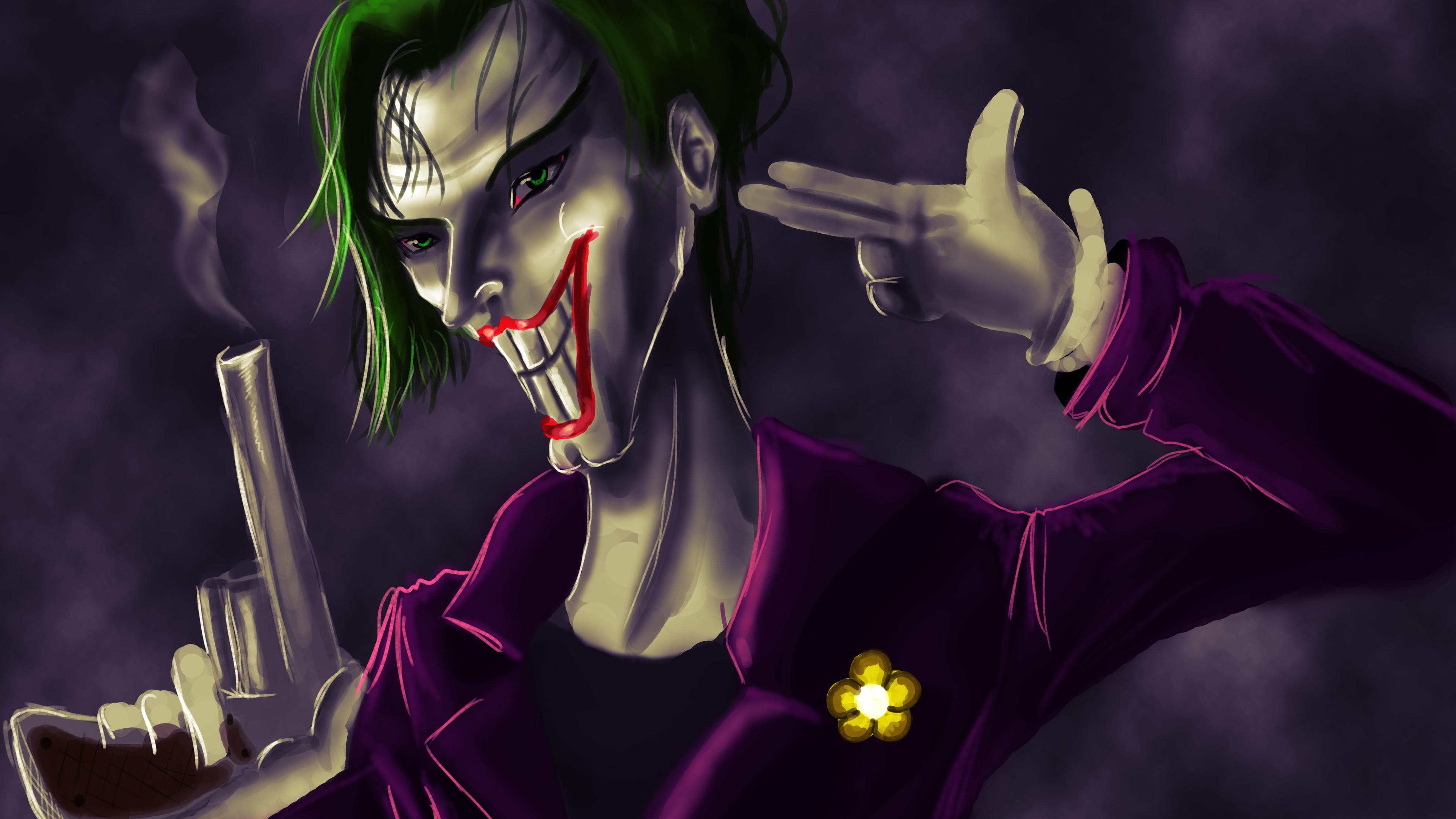 joker 5k artwork 1540746393 - Joker 5k Artwork - supervillain wallpapers, superheroes wallpapers, joker wallpapers, hd-wallpapers, digital art wallpapers, deviantart wallpapers, artwork wallpapers, 5k wallpapers, 4k-wallpapers