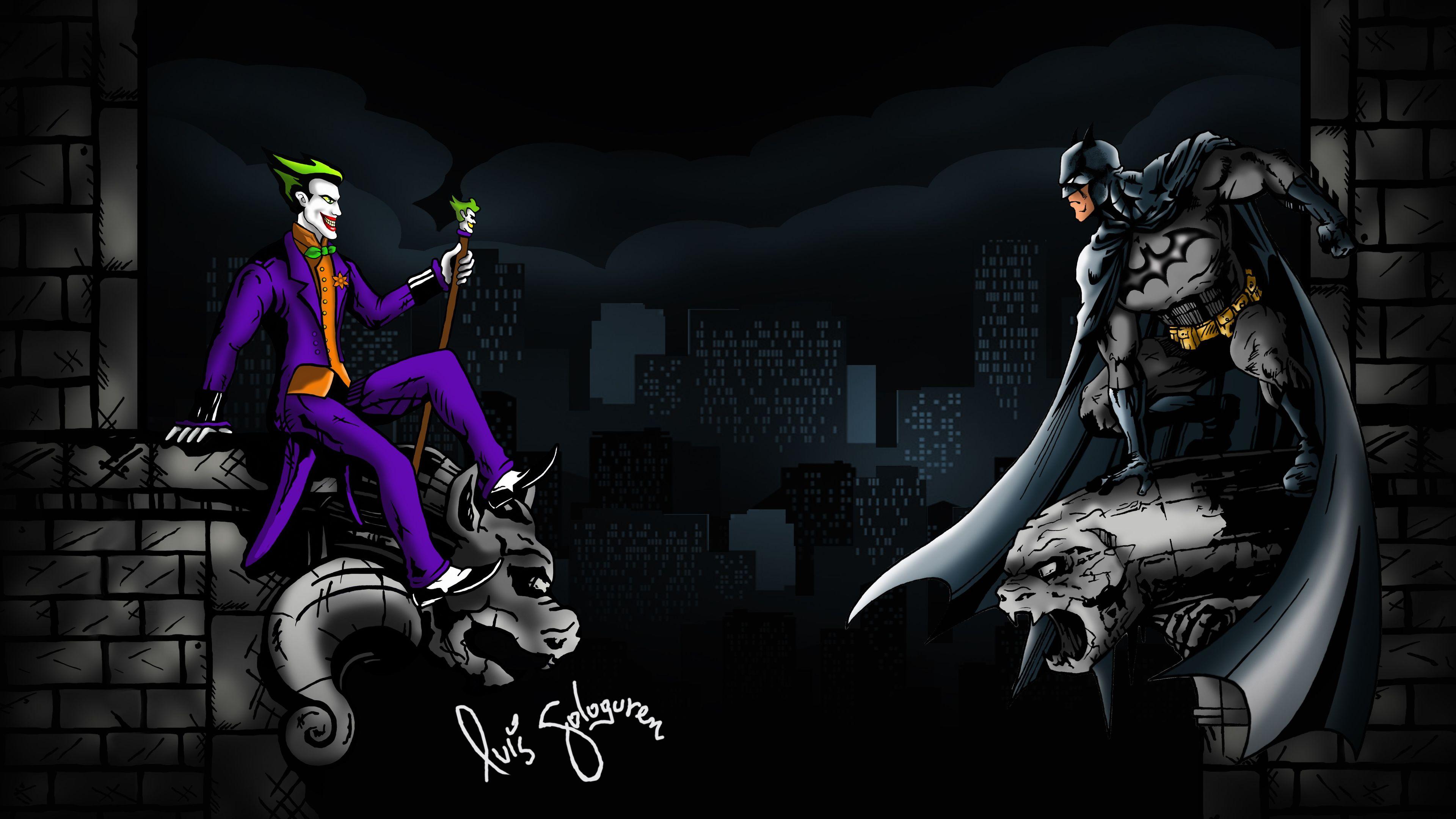 joker vs batman 5k 1538786503 - Joker Vs Batman 5k - supervillain wallpapers, superheroes wallpapers, joker wallpapers, hd-wallpapers, digital art wallpapers, batman wallpapers, artwork wallpapers, 5k wallpapers, 4k-wallpapers