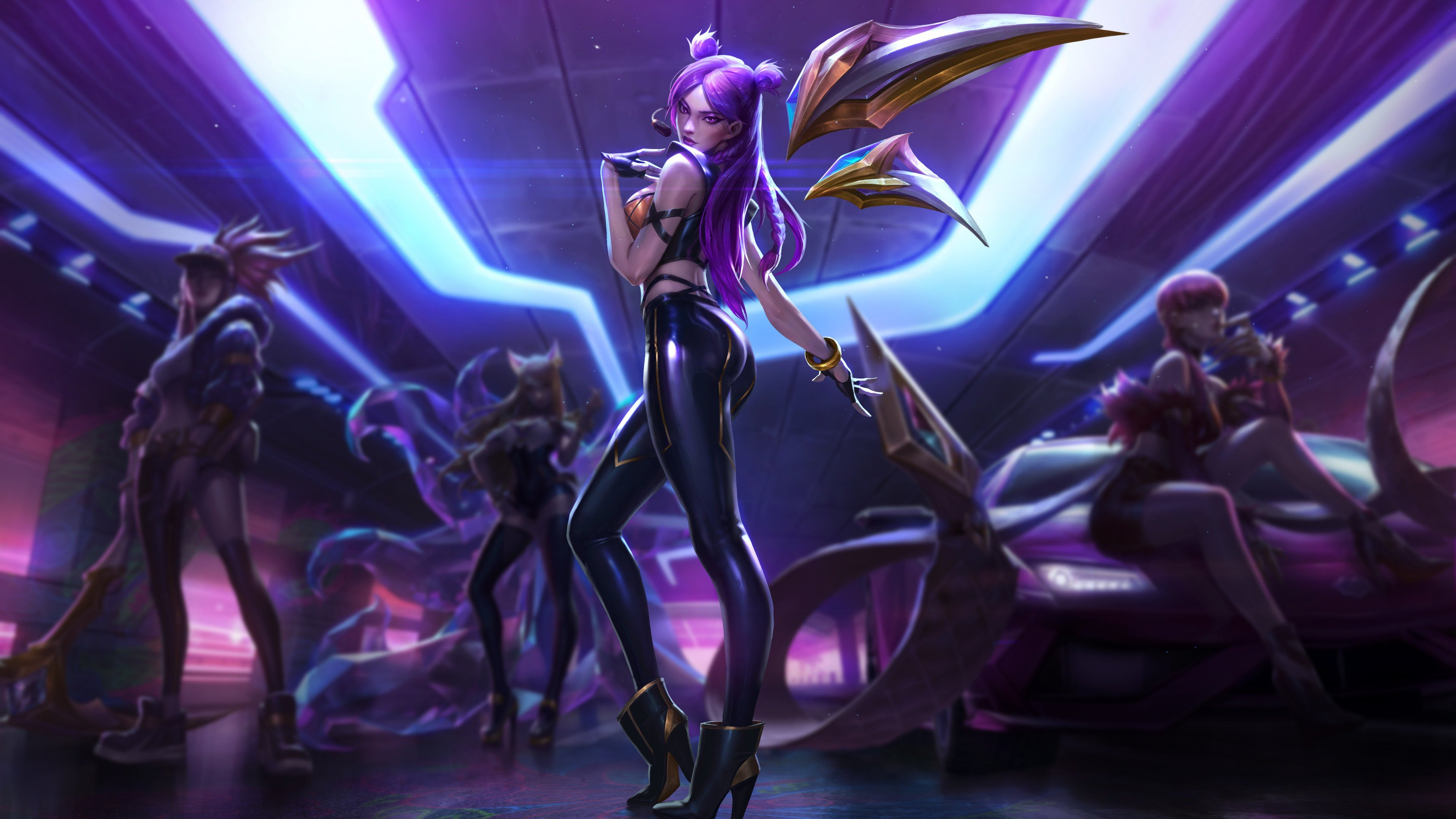 Wallpaper 4k Kaisa League Of Legends 4k 4k Wallpapers Games