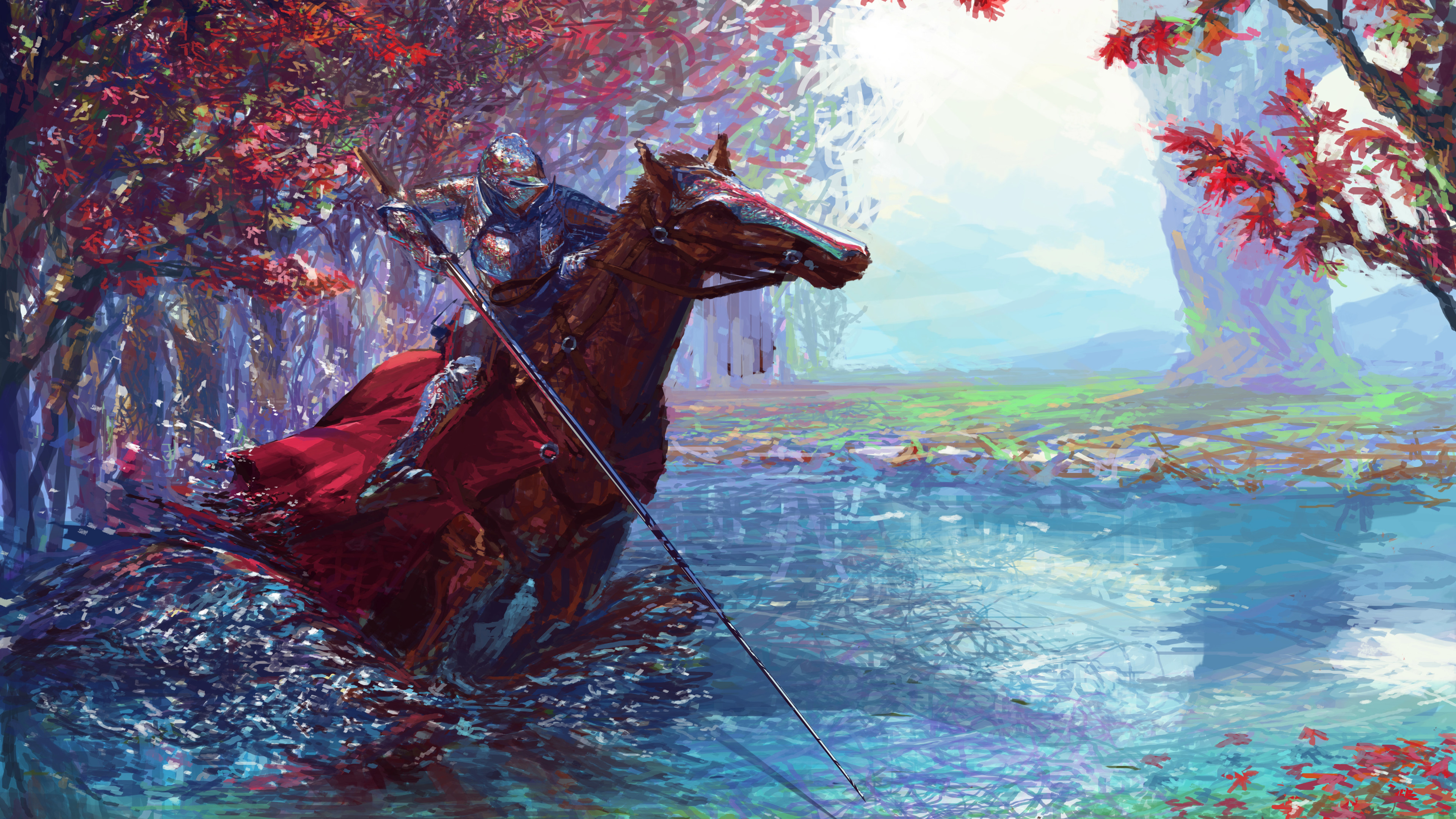 knight on horse with sword 4k 1540751654 - Knight On Horse With Sword 4k - sword wallpapers, knight wallpapers, horse wallpapers, hd-wallpapers, digital art wallpapers, deviantart wallpapers, artwork wallpapers, artist wallpapers, 5k wallpapers, 4k-wallpapers