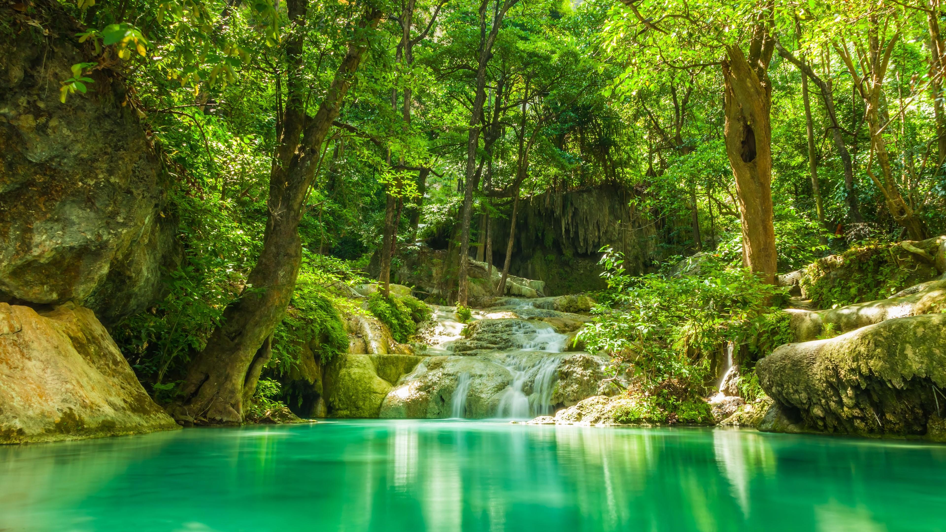 ⭐️ Cảnh Đẹp Mùa Xuân Trên Thế Giới ⭐️ Lake-and-water-cascades-in-forest-4k_1540131557