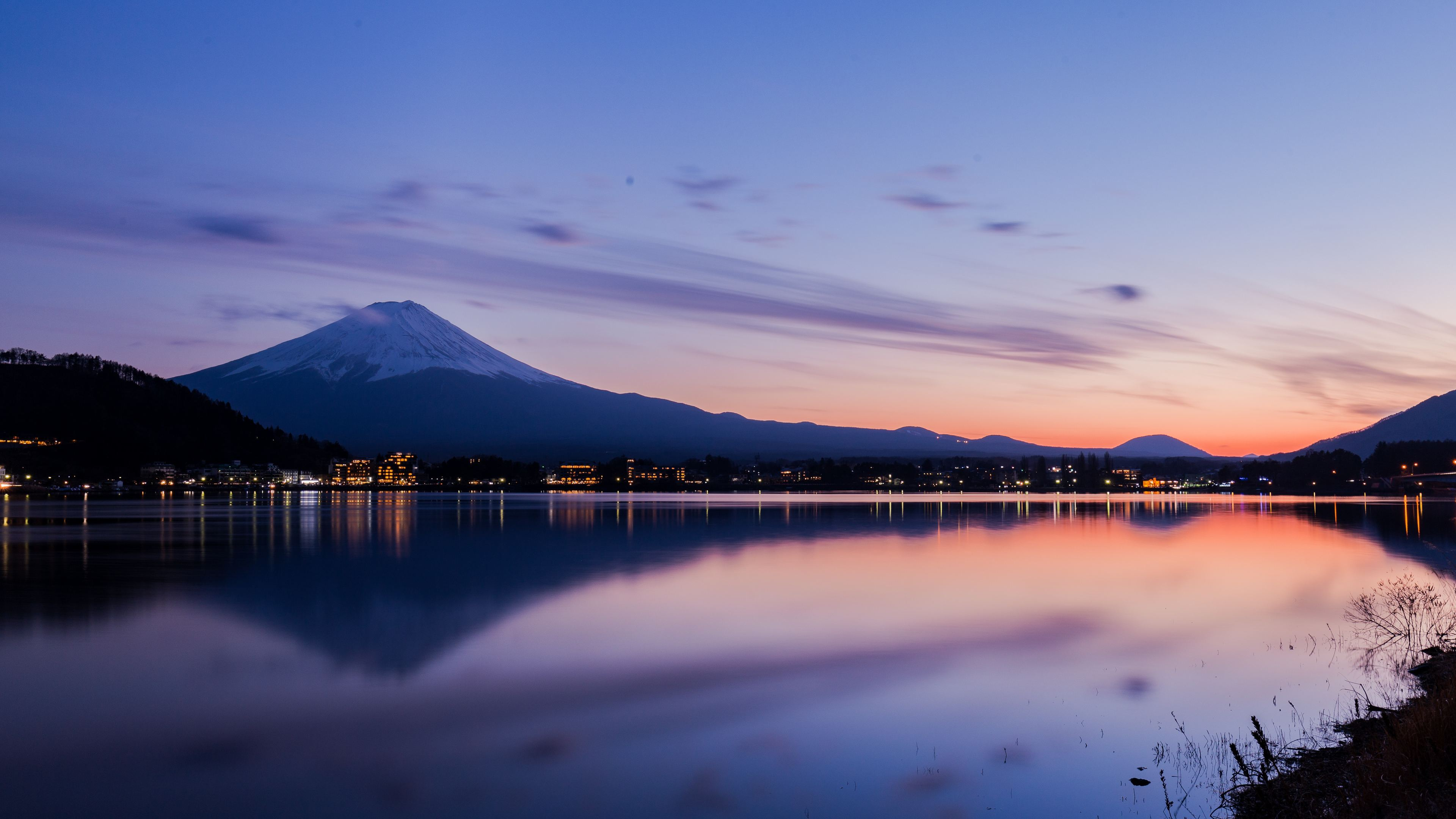2048x2048 Lake Ultra Hd 4k Ipad Air Hd 4k Wallpapers: Lake Kawaguchi In Japan 4k Reflections Wallpapers, Nature