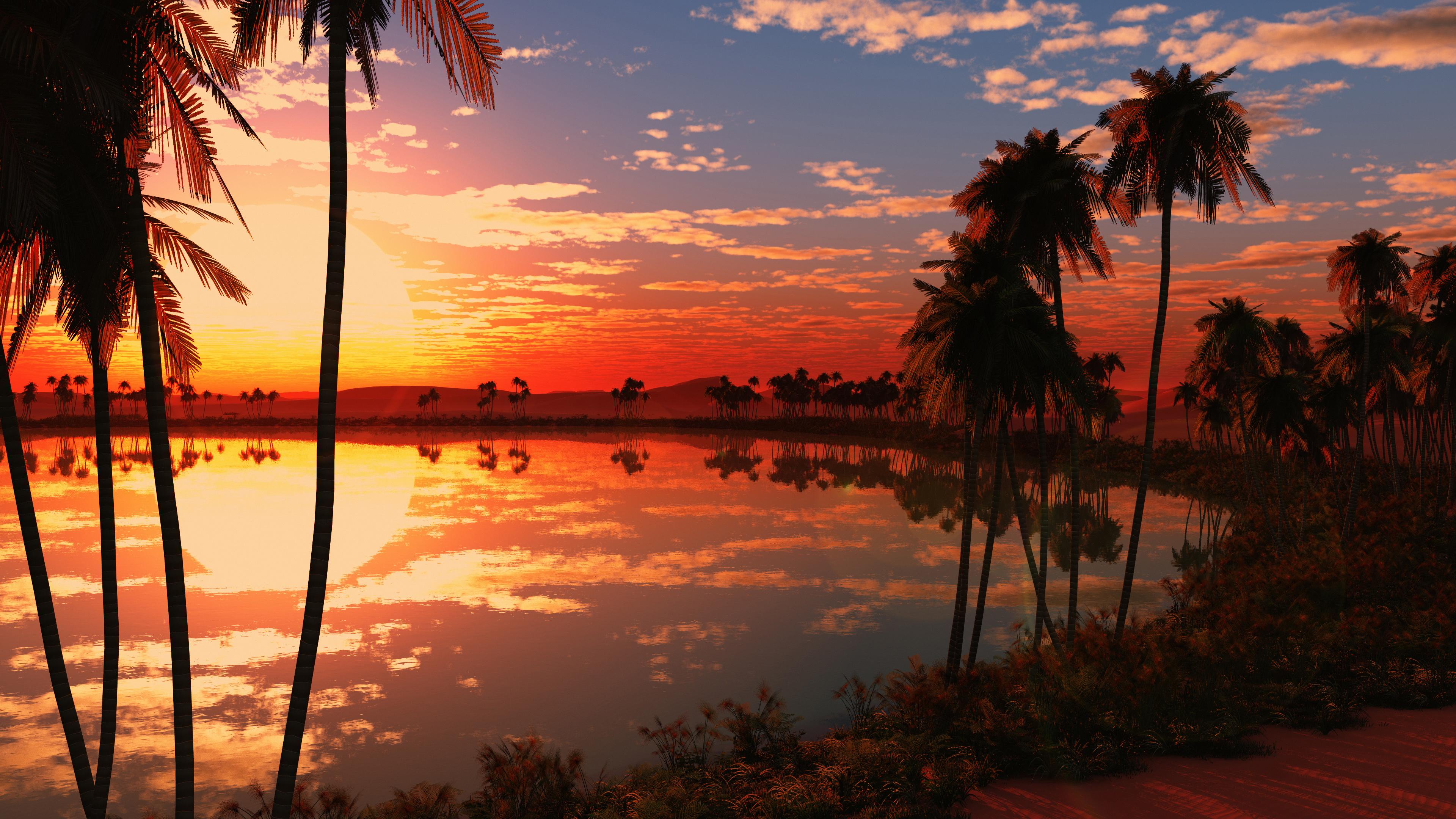 Wallpaper 4k Lake Sunset 4k 4k Wallpapers Lake Wallpapers