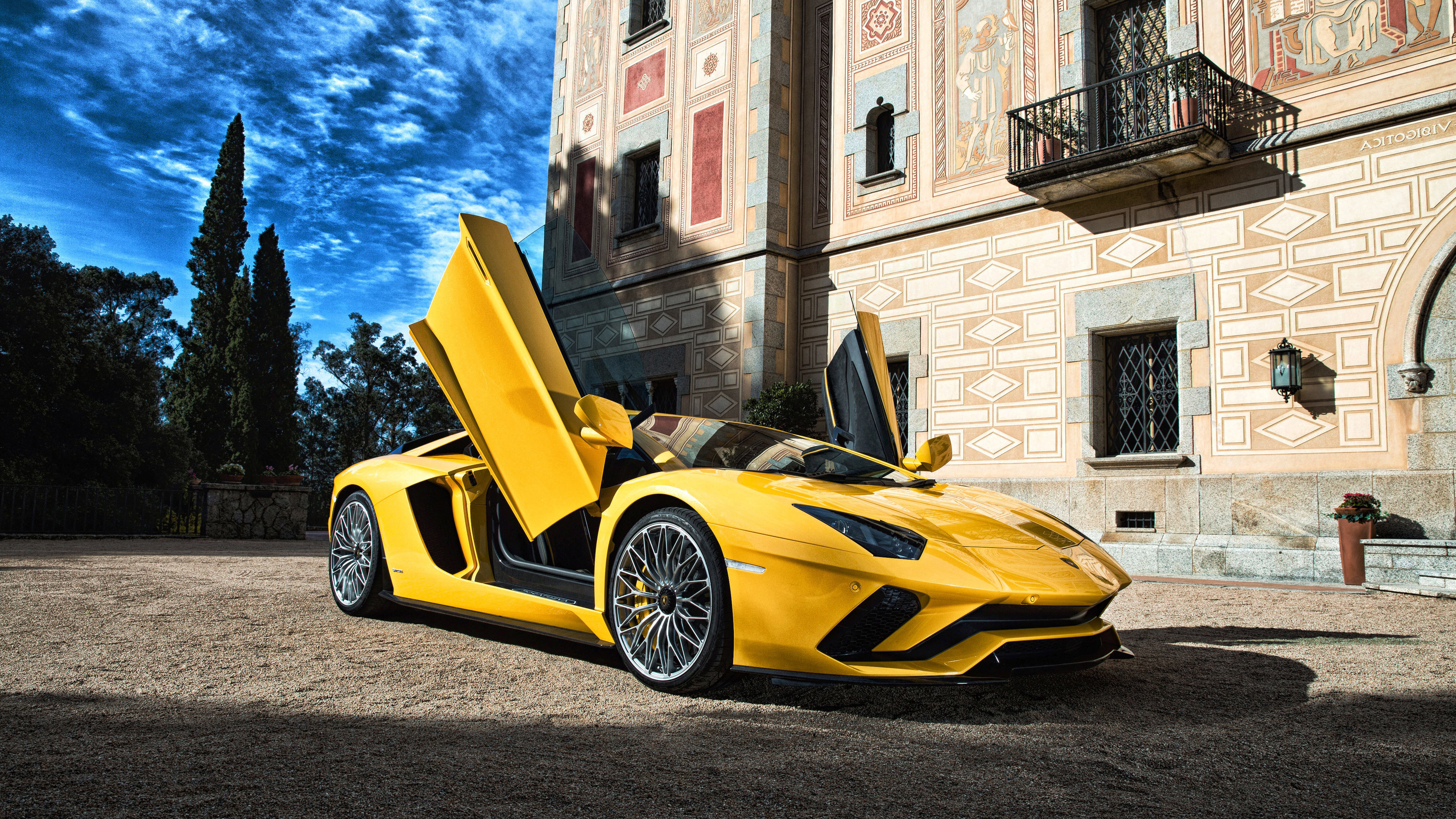 lamborghini aventador 5k 4k 1539105114 - Lamborghini Aventador 5k 4k - yellow wallpapers, lamborghini wallpapers, lamborghini aventador wallpapers, hd-wallpapers, cars wallpapers, 5k wallpapers, 4k-wallpapers