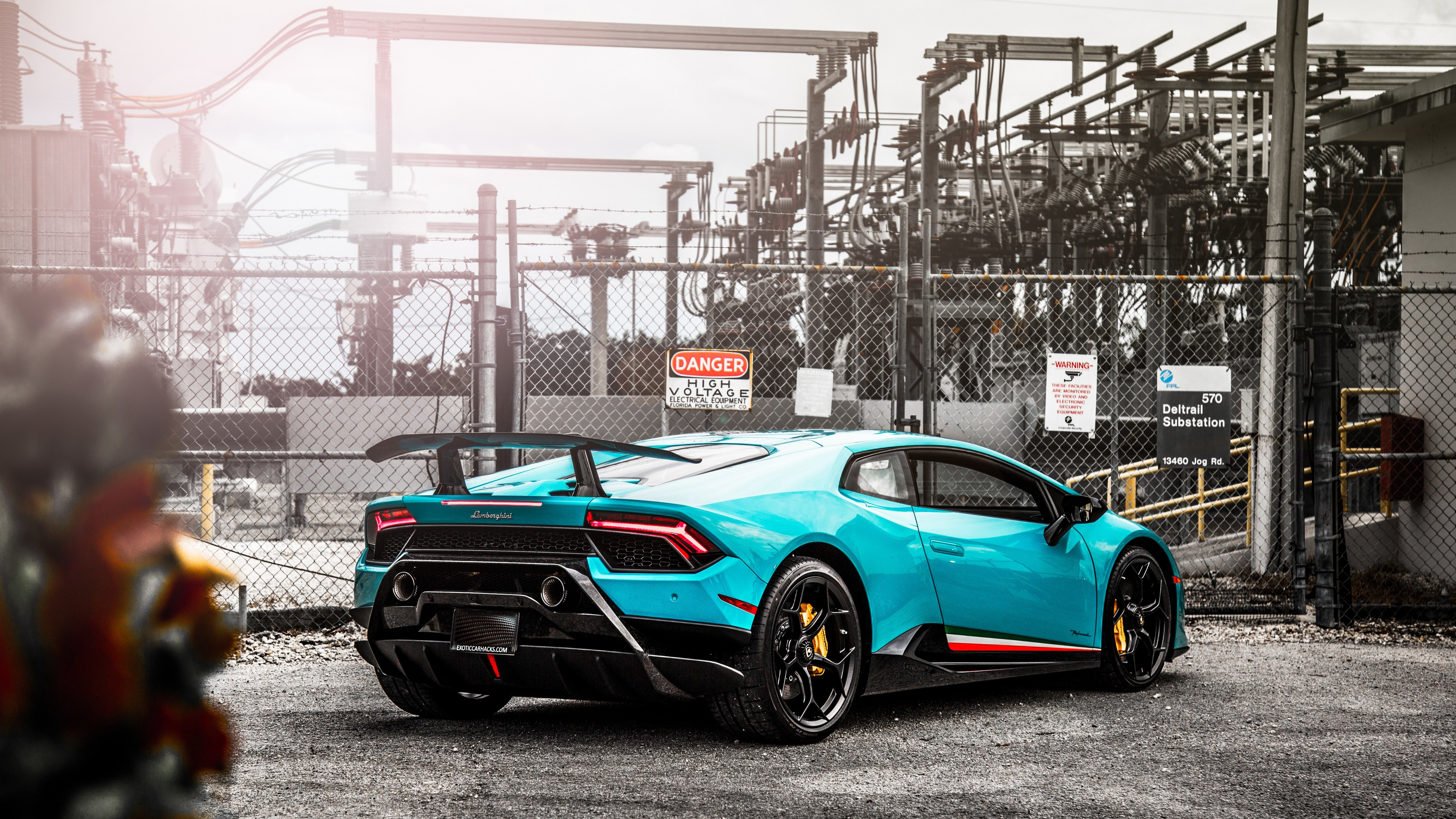 Wallpaper 4k Lamborghini Huracan Performante Rear 5k 2018 Cars