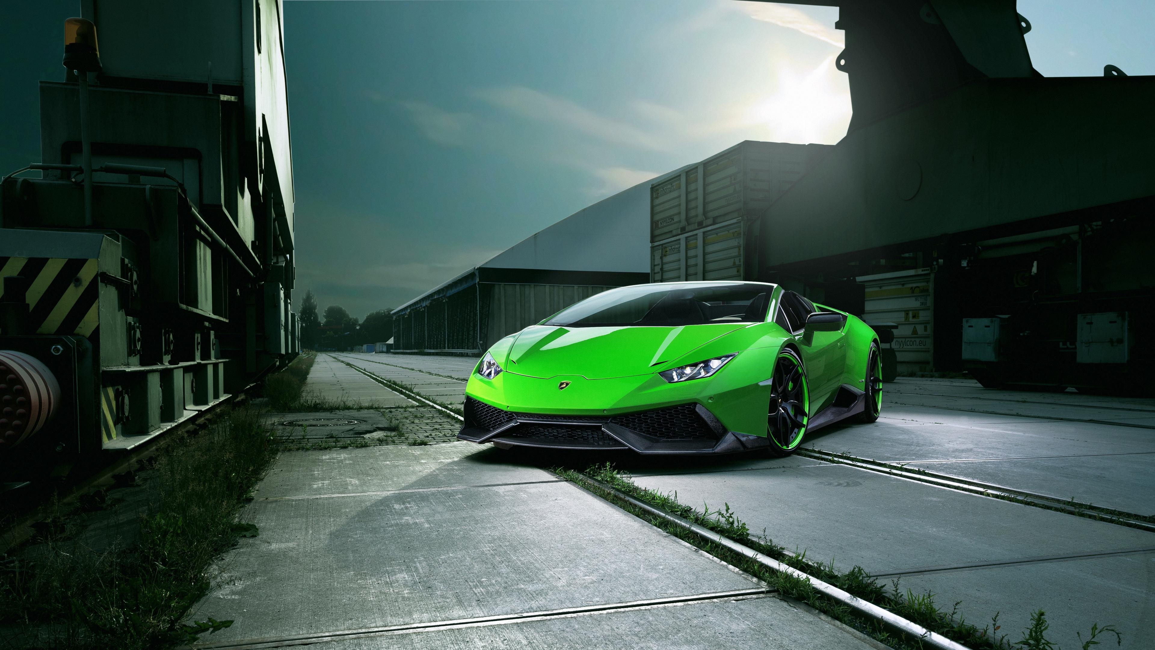 lamborghini huracan spyder green front view 4k 1538937099 - lamborghini, huracan, spyder, green, front view 4k - Spyder, Lamborghini, Huracan