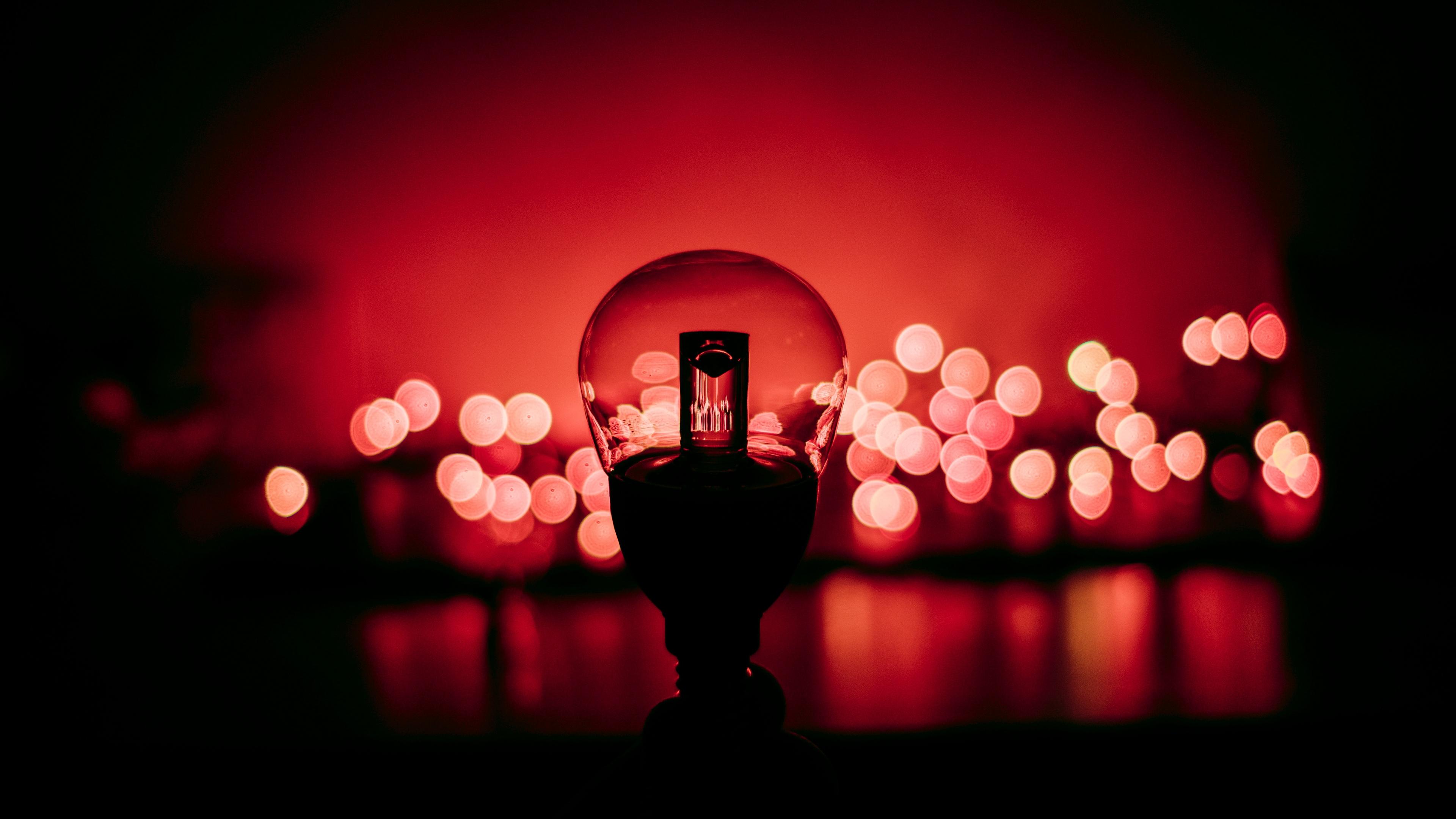 lamp glare red 4k 1540574659 - lamp, glare, red 4k - red, lamp, glare