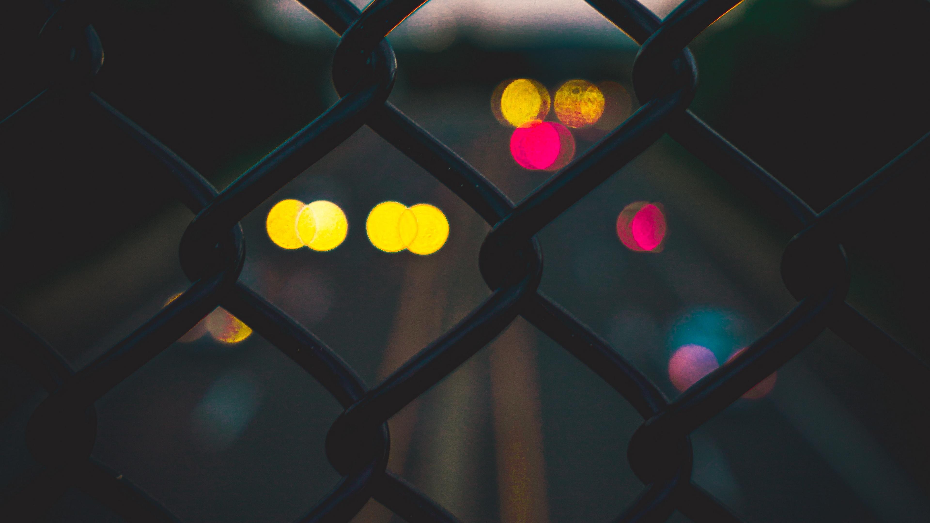 lattice fence blur glare 4k 1540575607 - lattice, fence, blur, glare 4k - lattice, fence, Blur