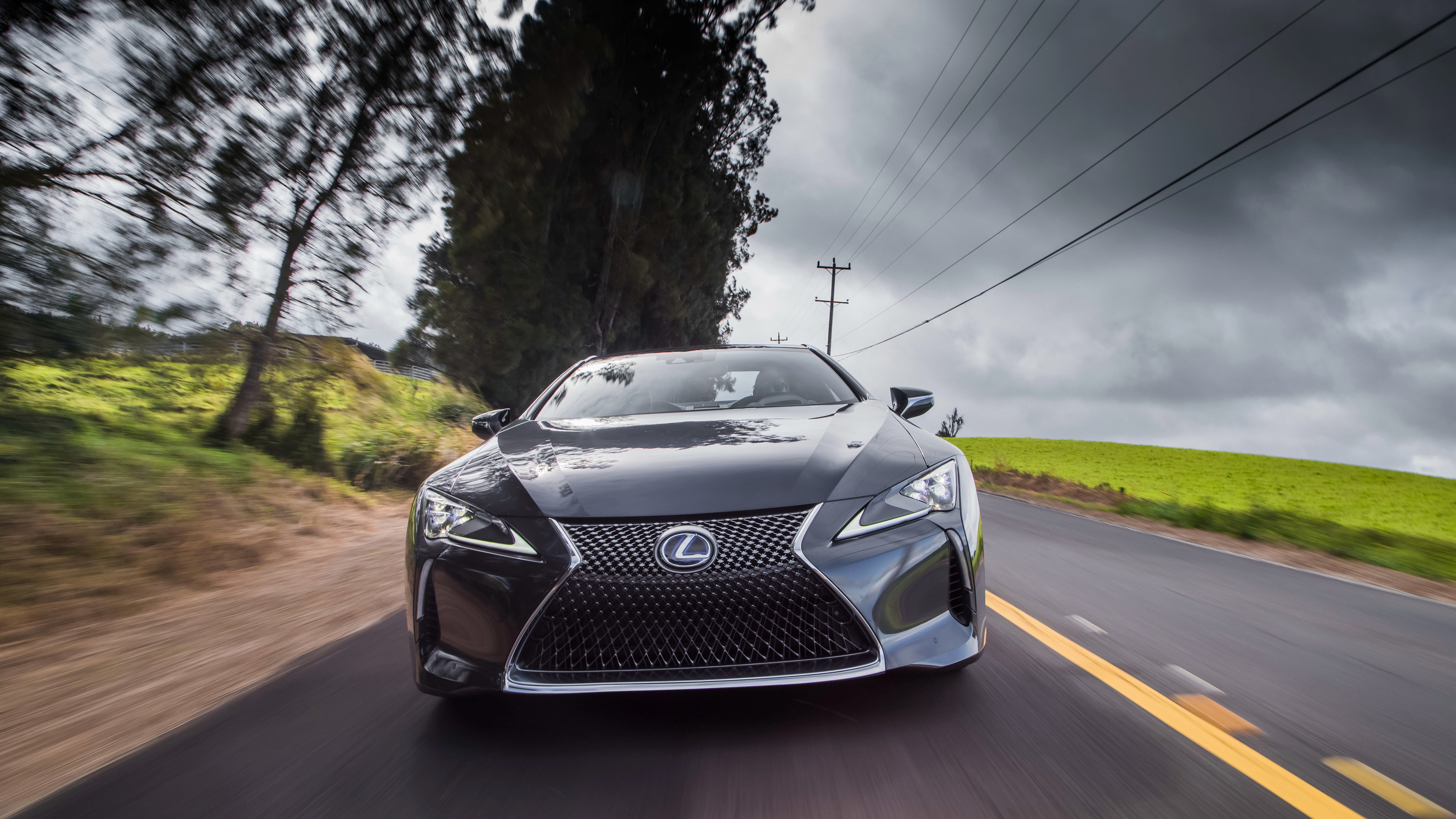 lexus lc 500h 2018 front 1539107305 - Lexus LC 500h 2018 Front - lexus wallpapers, lexus lc 500 wallpapers, hd-wallpapers, 4k-wallpapers, 2017 cars wallpapers