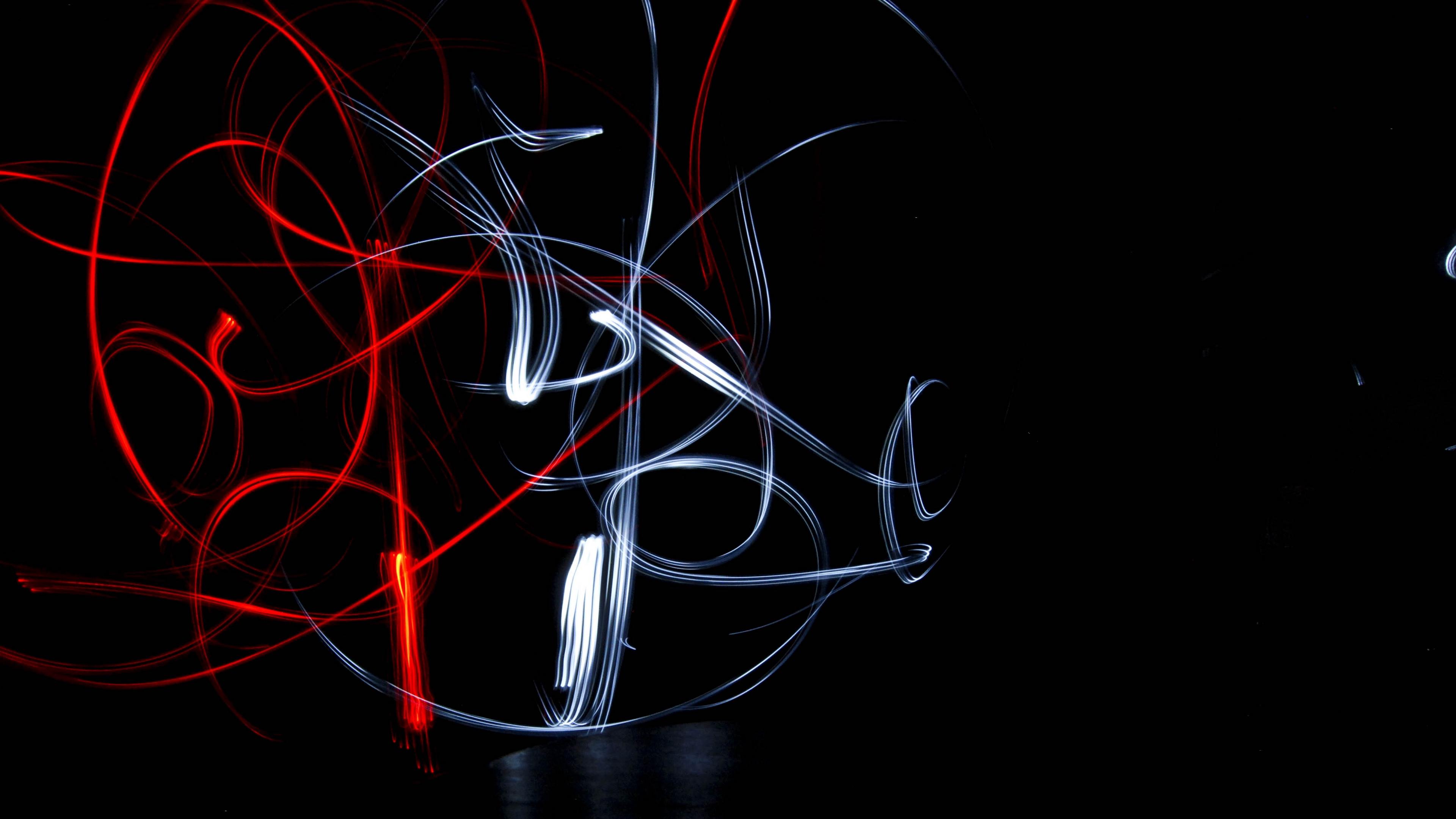 light art lines plexus dark 4k 1540576013 - light art, lines, plexus, dark 4k - plexus, Lines, light art