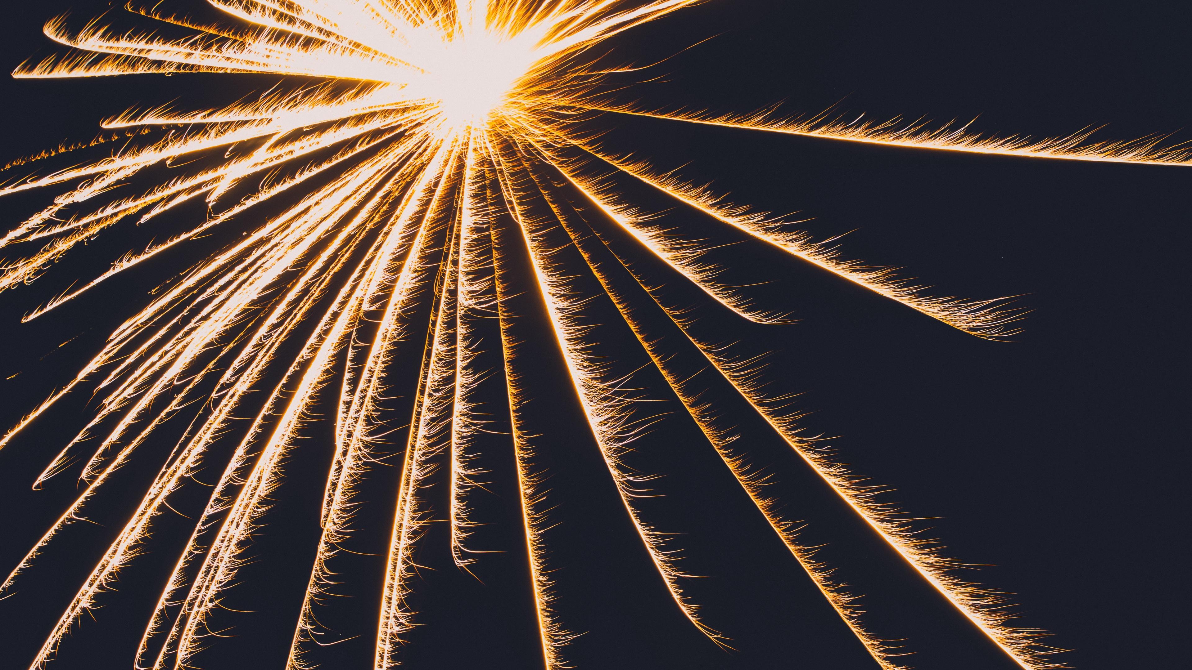 light lines sparks 4k 1539369711 - light, lines, sparks 4k - Sparks, Lines, Light