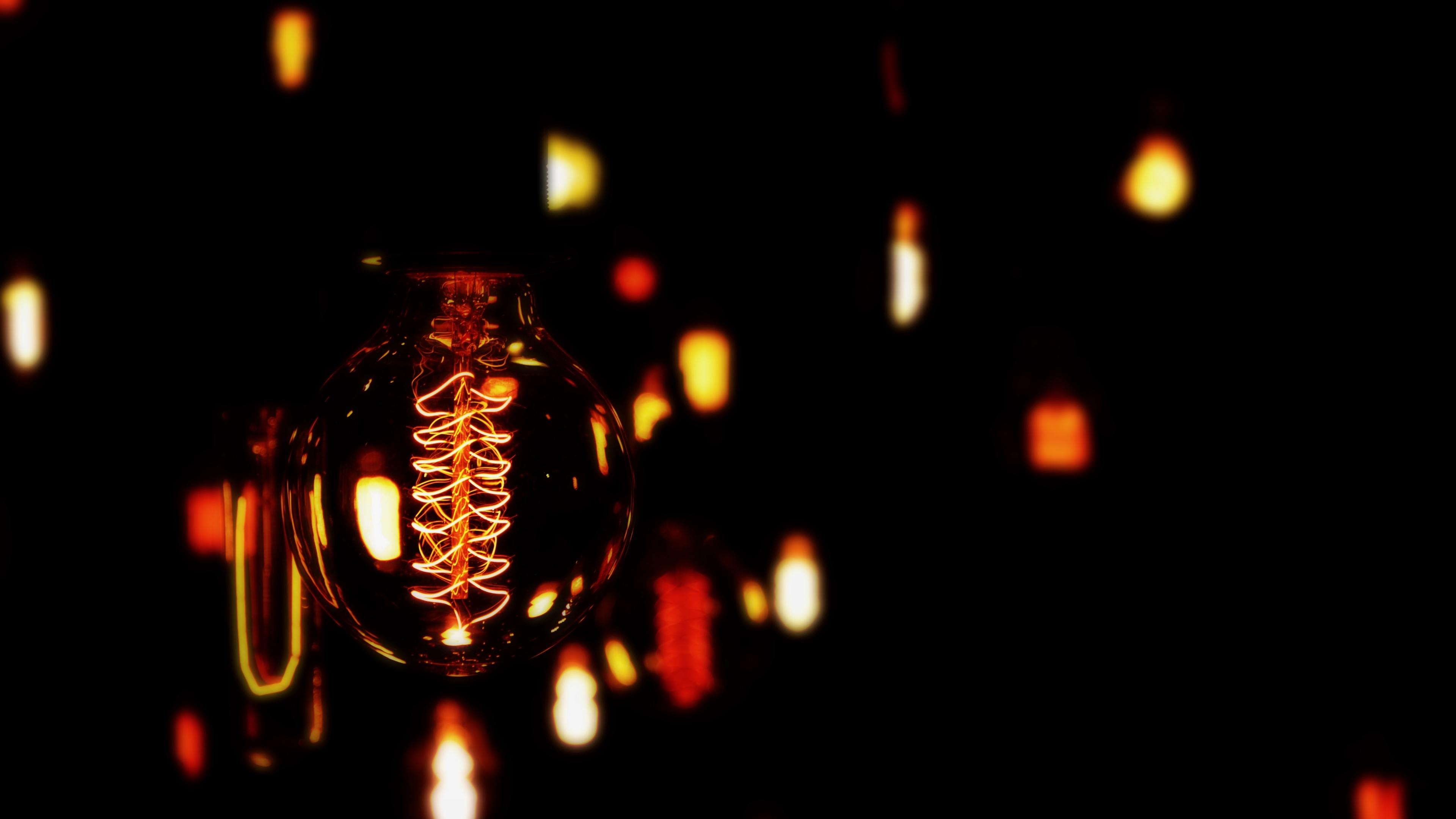 lightbulb electricity dark spiral bokeh 4k 1540575538 - lightbulb, electricity, dark, spiral, bokeh 4k - lightbulb, electricity, Dark