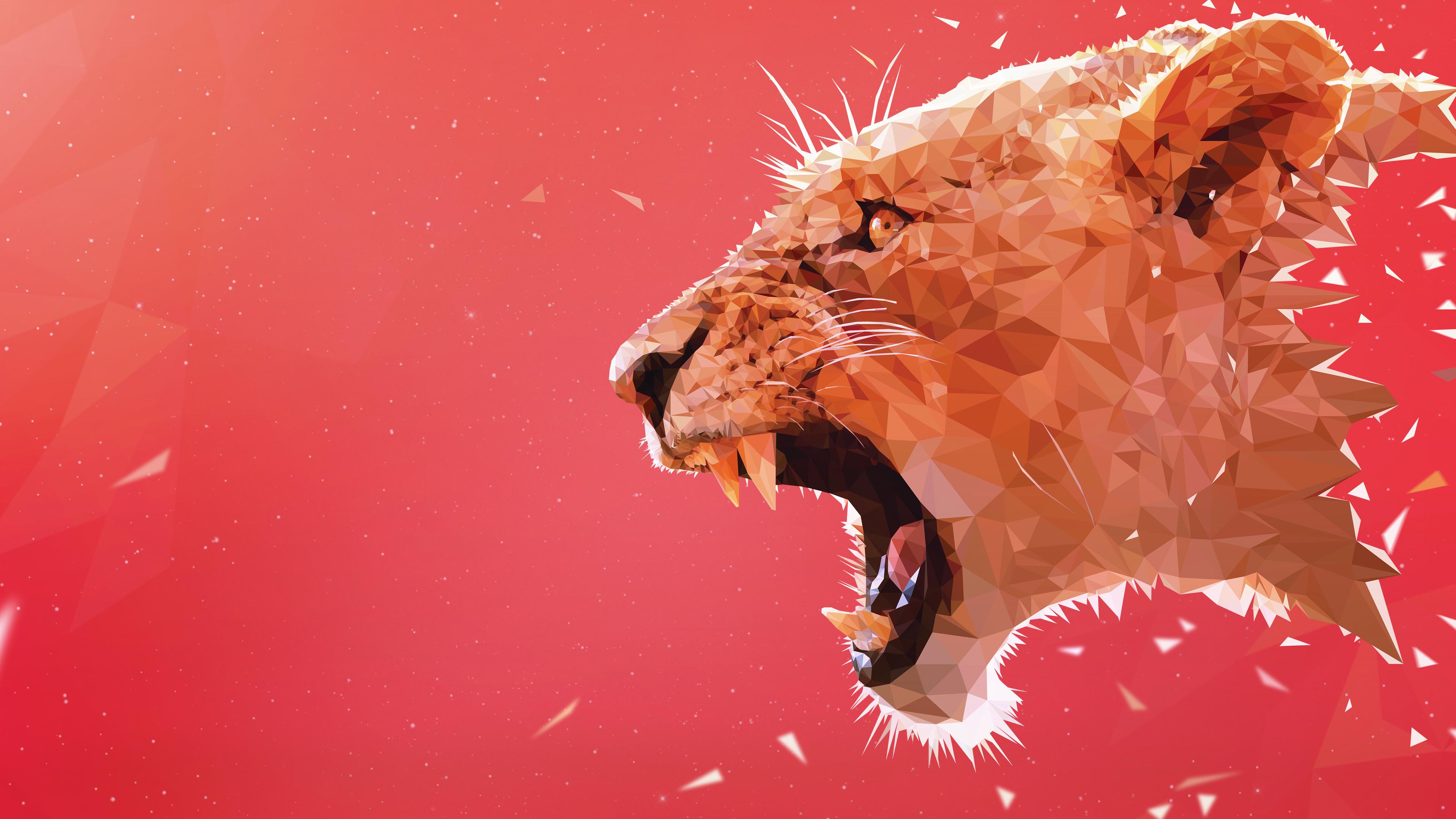 lion facet 4k 1540750106 - Lion Facet  4k - lion wallpapers, hd-wallpapers, facets wallpapers, facet wallpapers, digital art wallpapers, artwork wallpapers, artist wallpapers, animals wallpapers, 5k wallpapers, 4k-wallpapers