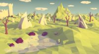 low poly polygon landscape abstraction 4k 1539370569 200x110 - low poly, polygon, landscape, abstraction 4k - polygon, low poly, Landscape