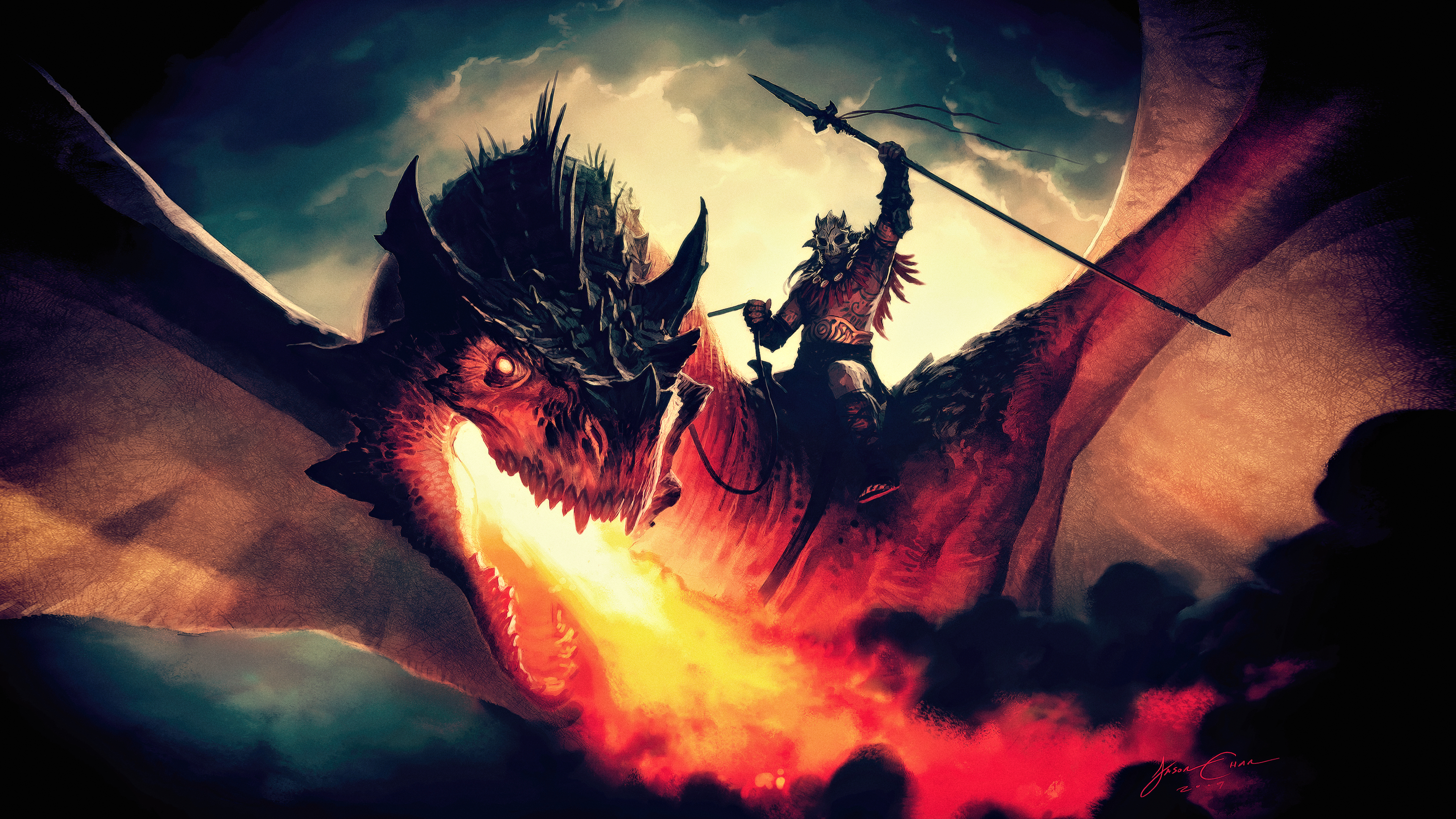 Magical Fantasy Hd Wallpapers That Will Take Your Breathe: Magic The Gathering Arena Dragon Concept Art Magic The