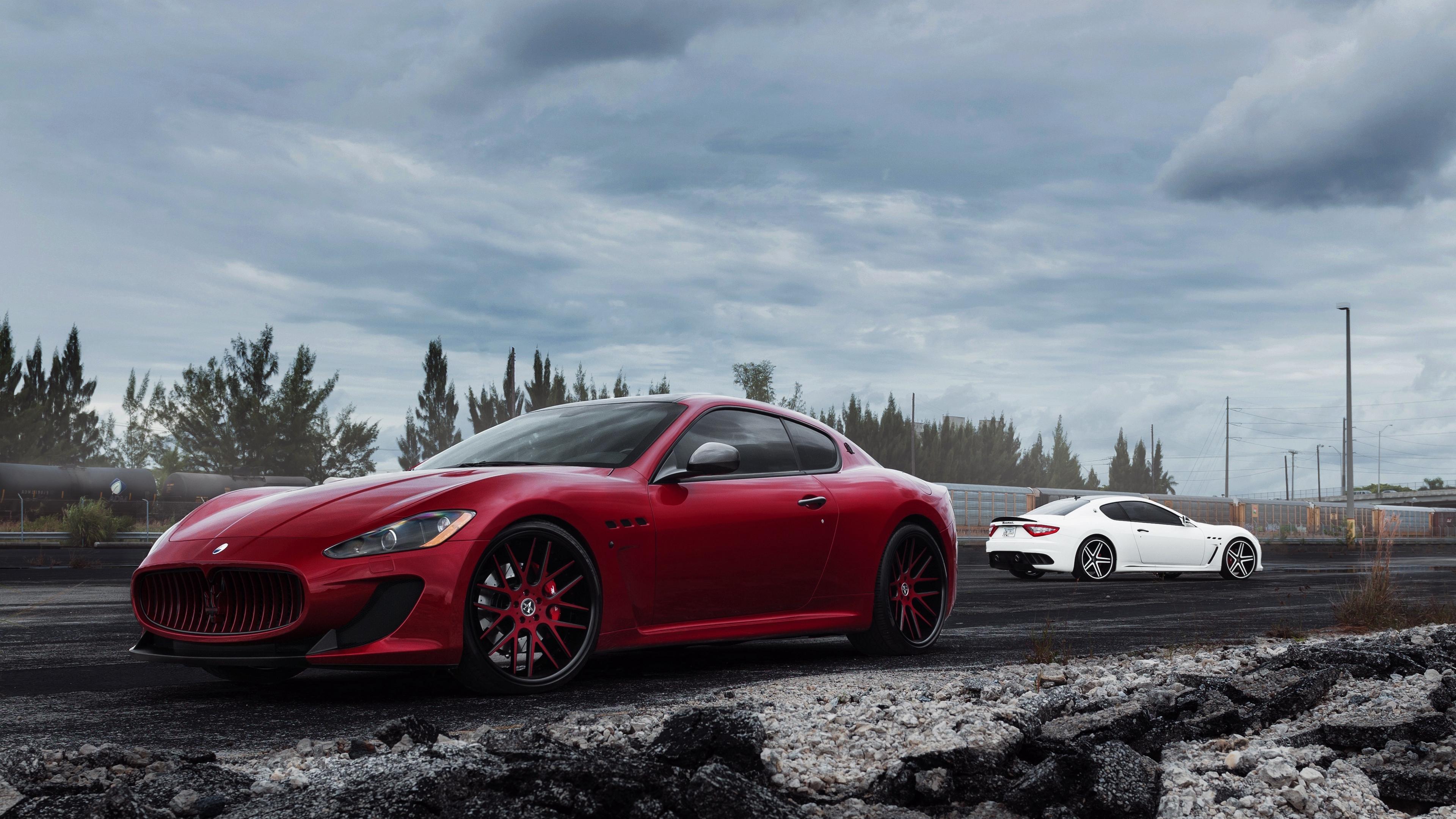 maserati granturismo mc red side view 4k 1538938603 - maserati, granturismo, mc, red, side view 4k - mc, Maserati, GranTurismo