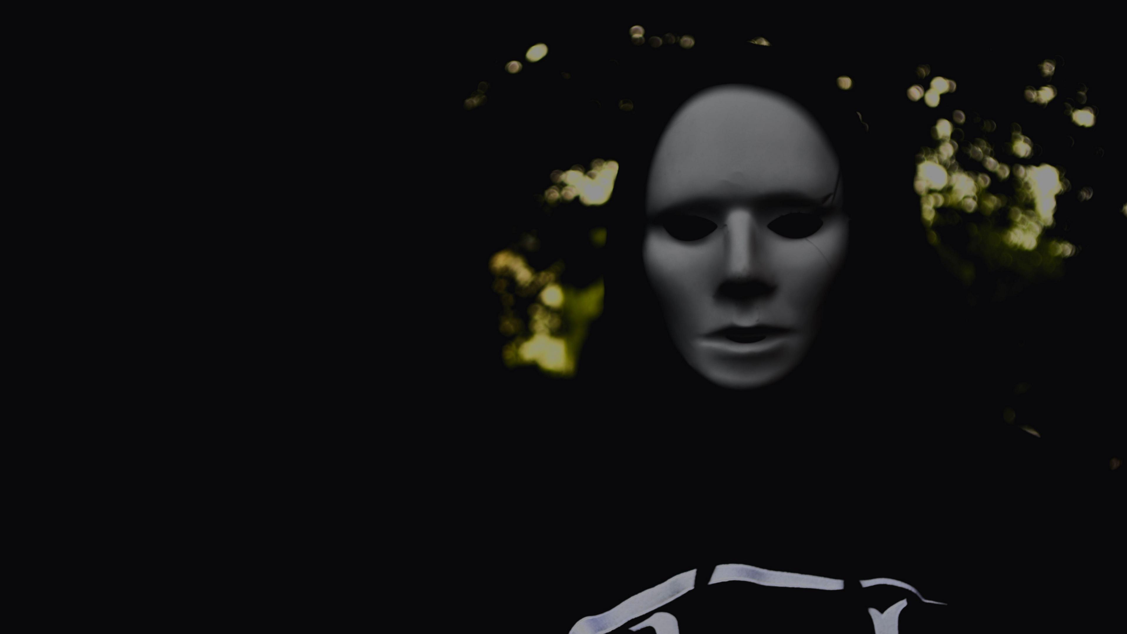 mask man creepy dark 4k 1540575101 - mask, man, creepy, dark 4k - Mask, Man, creepy