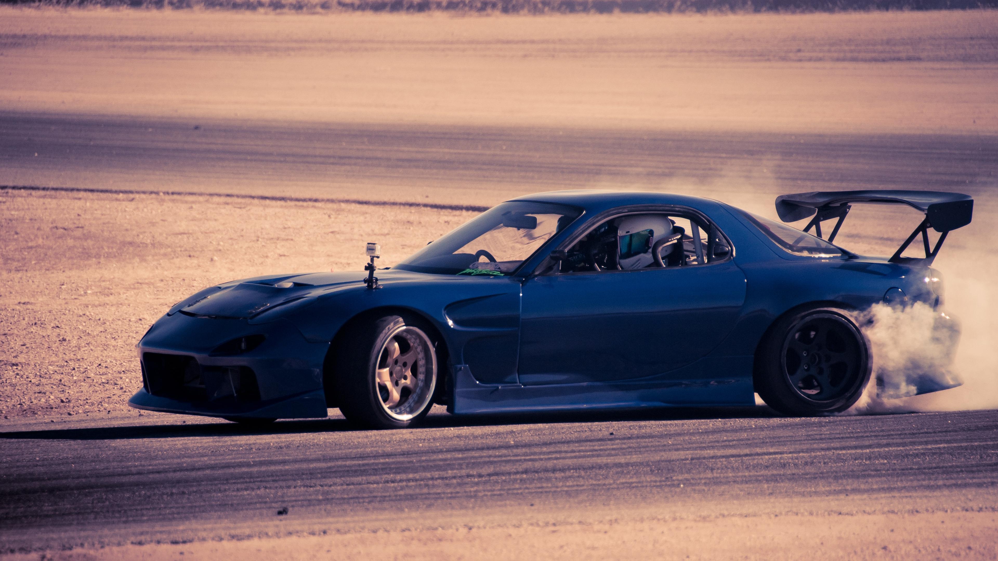 mazda rx 7 blue cars speed 4k 1538937549 - mazda, rx 7, blue, cars, speed 4k - rx 7, Mazda, blue
