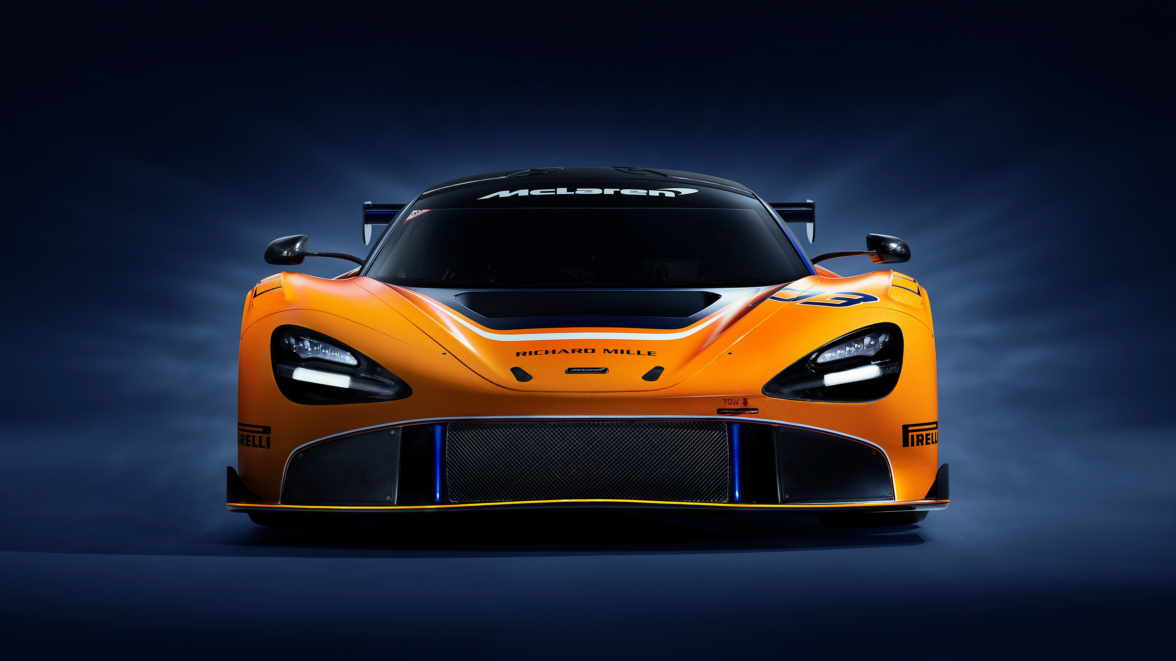 mclaren 720s gt3 2019 front 1539114035 - McLaren 720S GT3 2019 Front - mclaren wallpapers, mclaren 720s wallpapers, mclaren 720s gt3 wallpapers, hd-wallpapers, cars wallpapers, 4k-wallpapers, 2019 cars wallpapers
