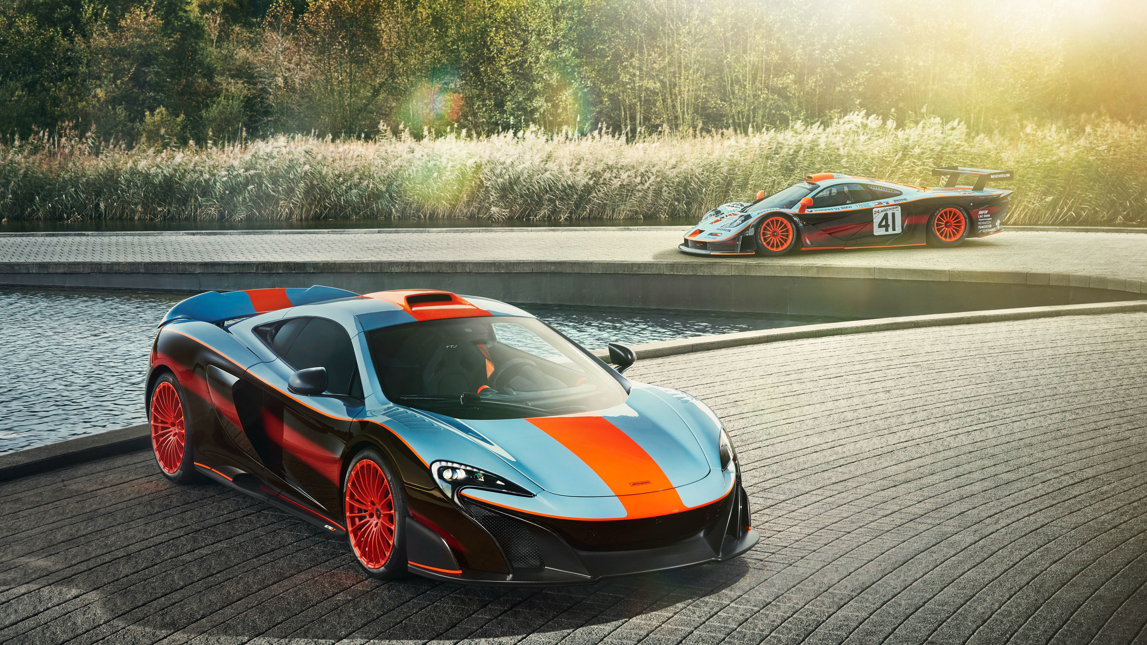 mclaren f1 mclaren mso 675lt gulf racing theme 2018 1539111598 - McLaren F1 McLaren MSO 675LT Gulf Racing Theme 2018 - mclaren wallpapers, mclaren mso 675 lt wallpapers, mclaren f1 wallpapers, hd-wallpapers, cars wallpapers, 4k-wallpapers, 2018 cars wallpapers