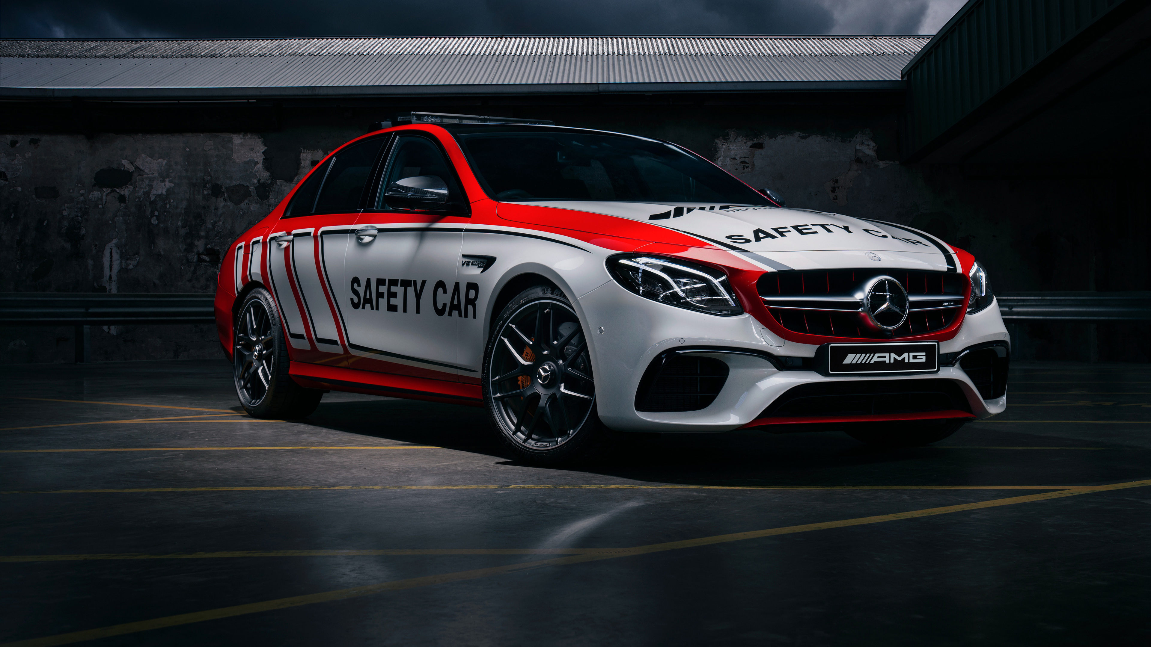 mercedes amg e 63 safety car 2018 1539109134 - Mercedes AMG E 63 Safety Car 2018 - mercedes wallpapers, mercedes amg wallpapers, hd-wallpapers, cars wallpapers, 4k-wallpapers, 2018 cars wallpapers