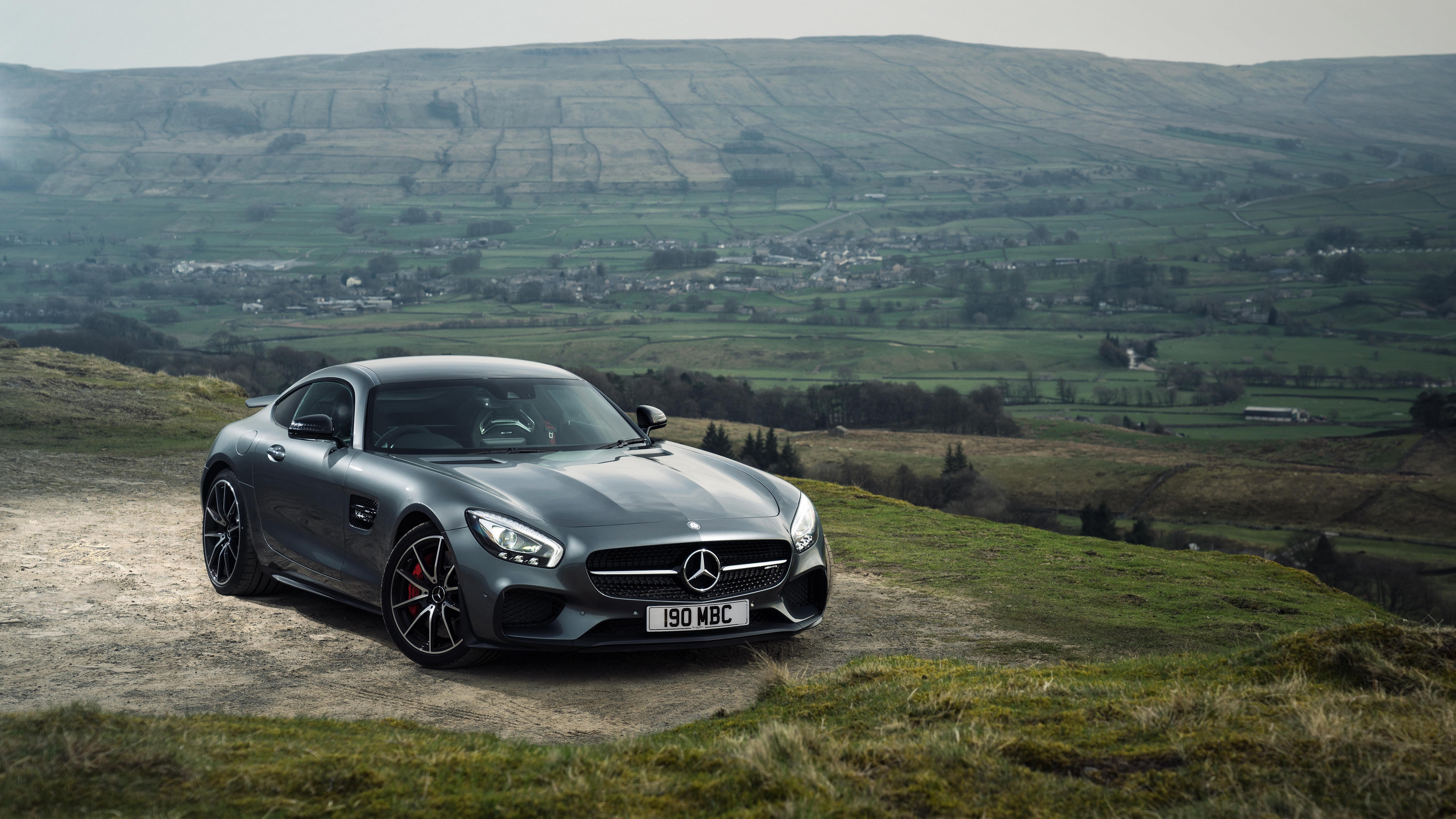 mercedes amg gt s gray side view 4k 1538935013 - mercedes, amg, gt s, gray, side view 4k - Mercedes, gt s, AMG