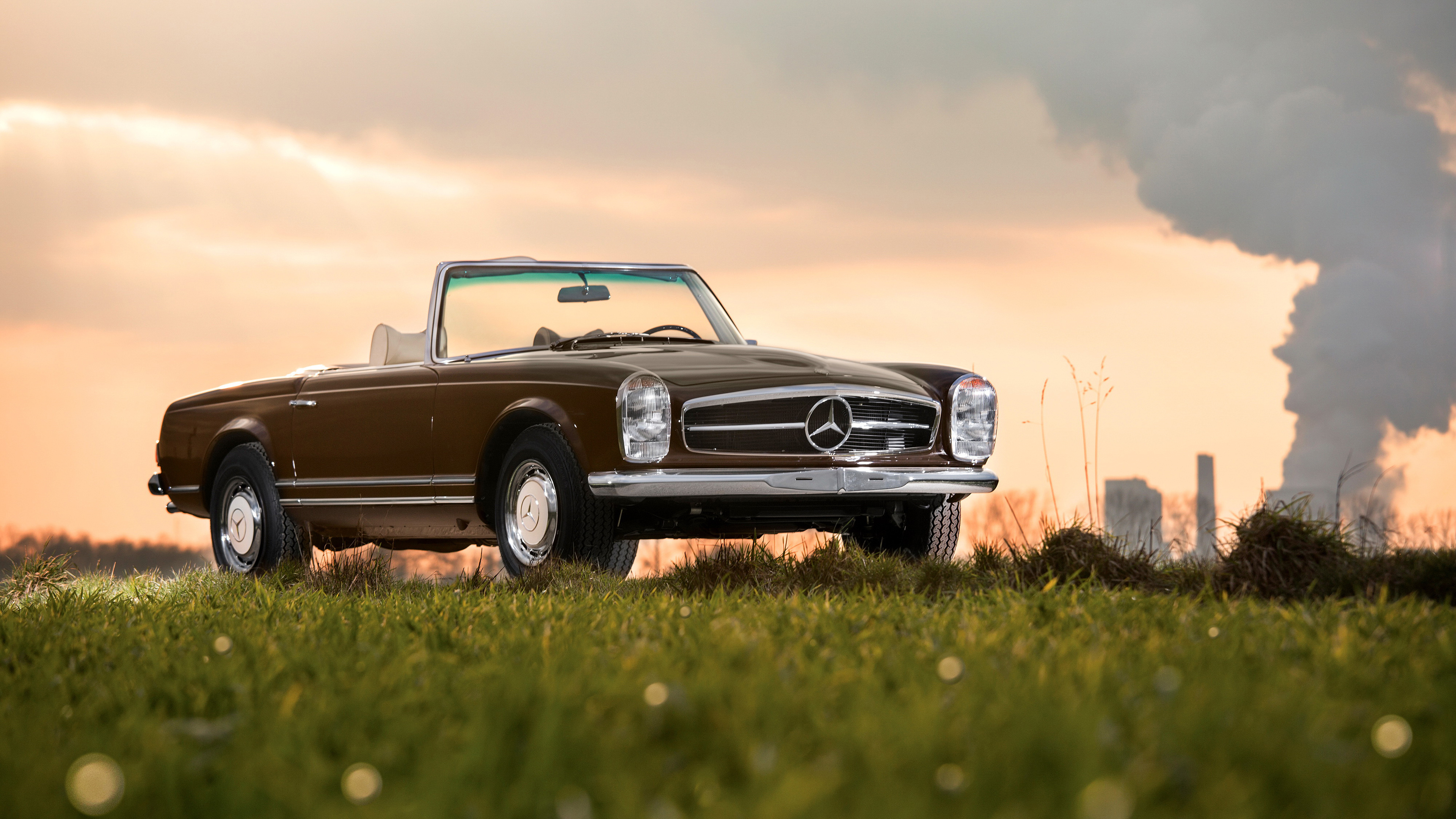 Wallpaper 4k Mercedes Benz 280 Sl 1968 4k Wallpapers Cars