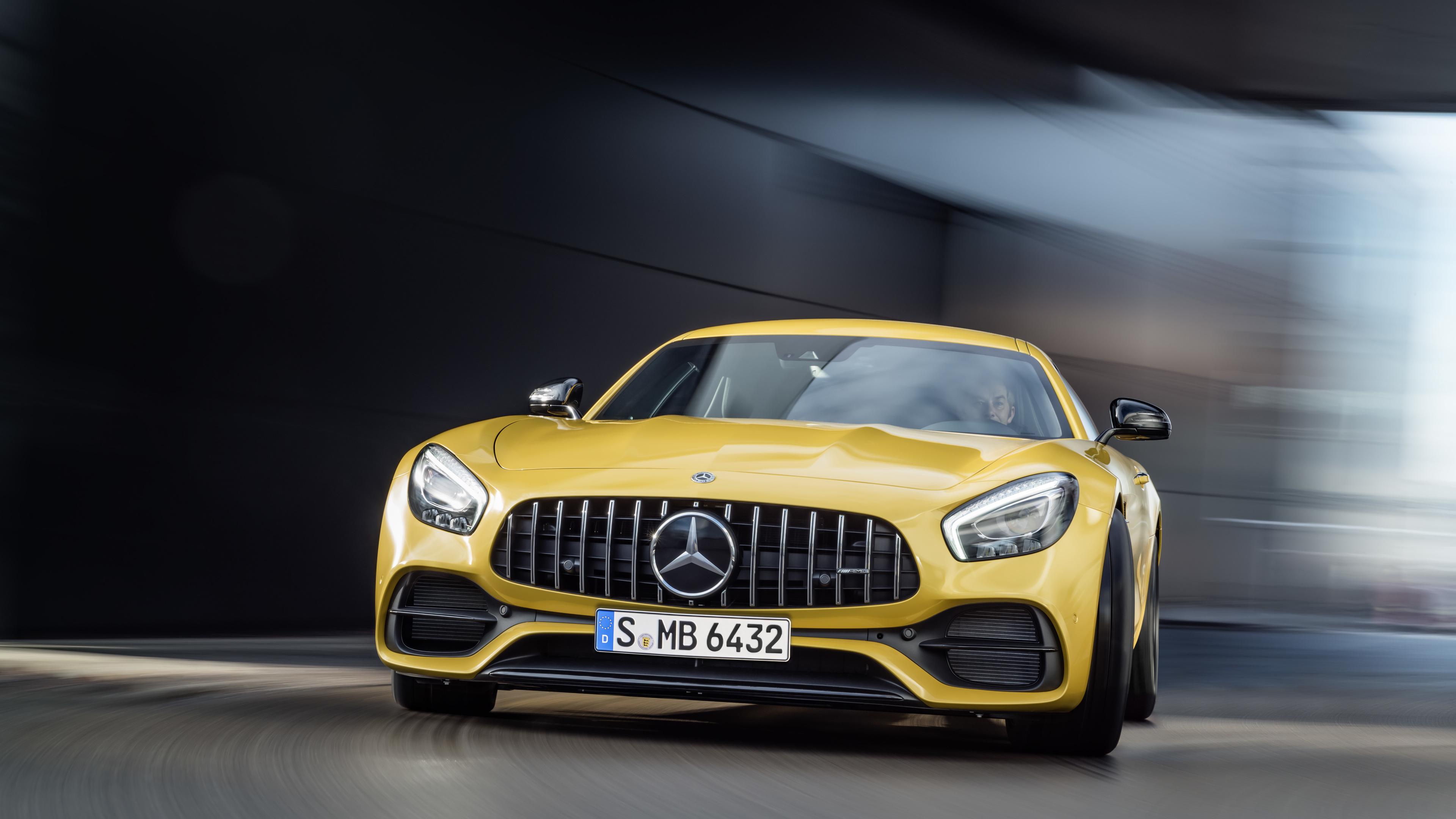 mercedes benz amg gt 2018 1539104932 - Mercedes Benz AMG GT 2018 - yellow wallpapers, mercedes wallpapers, mercedes benz wallpapers, cars wallpapers, amg wallpapers, 8k wallpapers, 2018 cars wallpapers